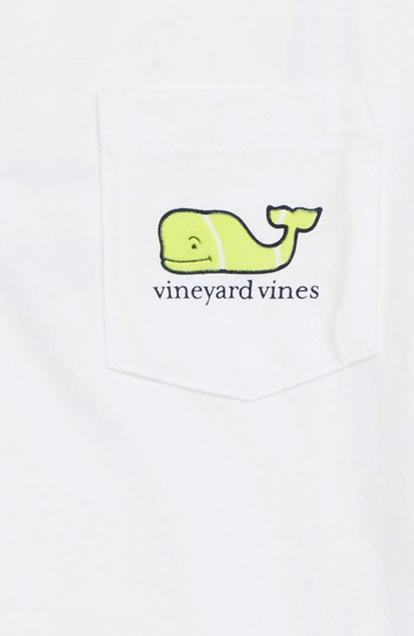 Tennis Whale Pocket T-Shirt,                             Alternate thumbnail 3, color,                             White Cap