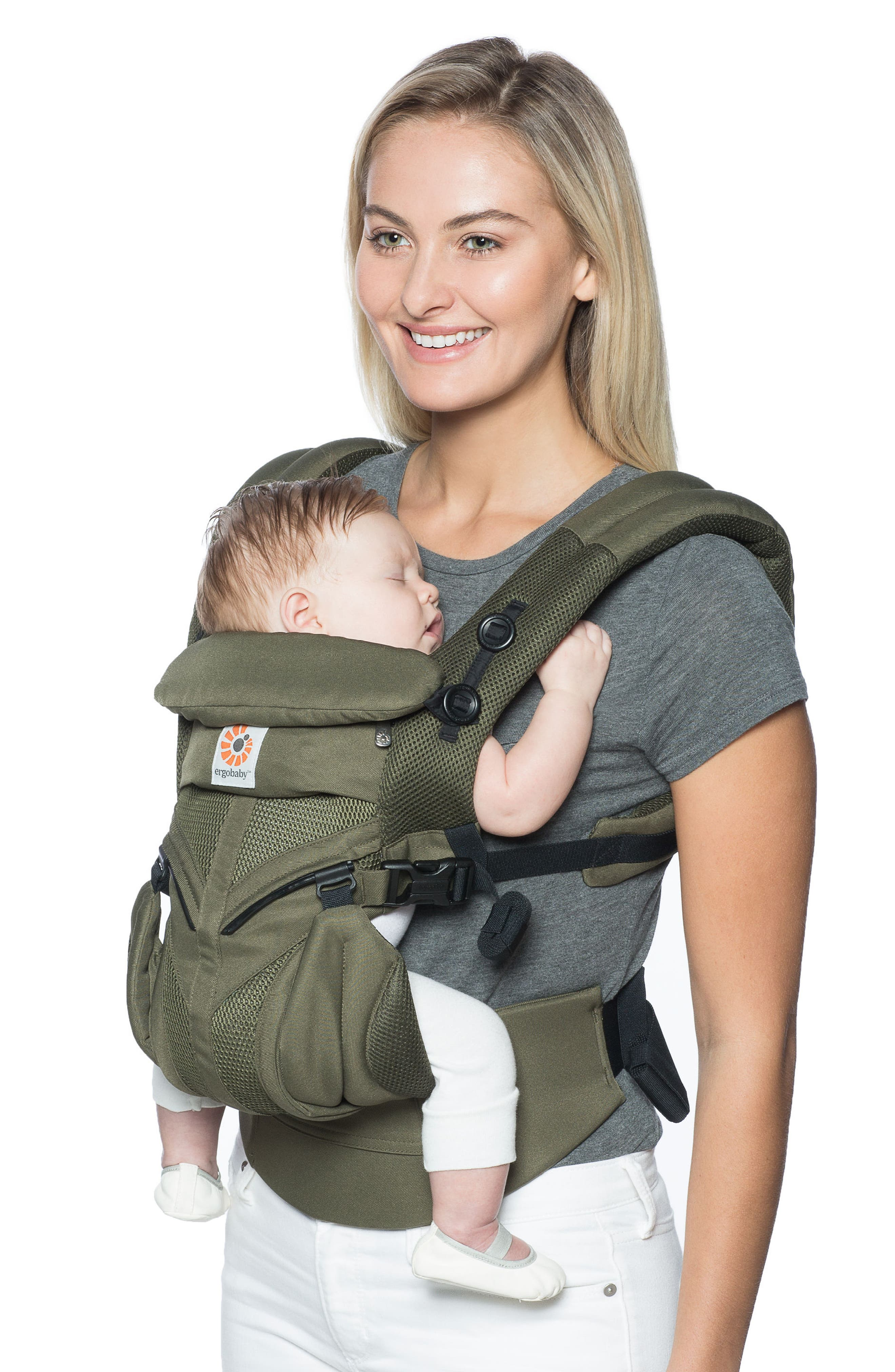 Omni 360 - Cool Air Baby Carrier,                             Alternate thumbnail 3, color,                             Khaki Green