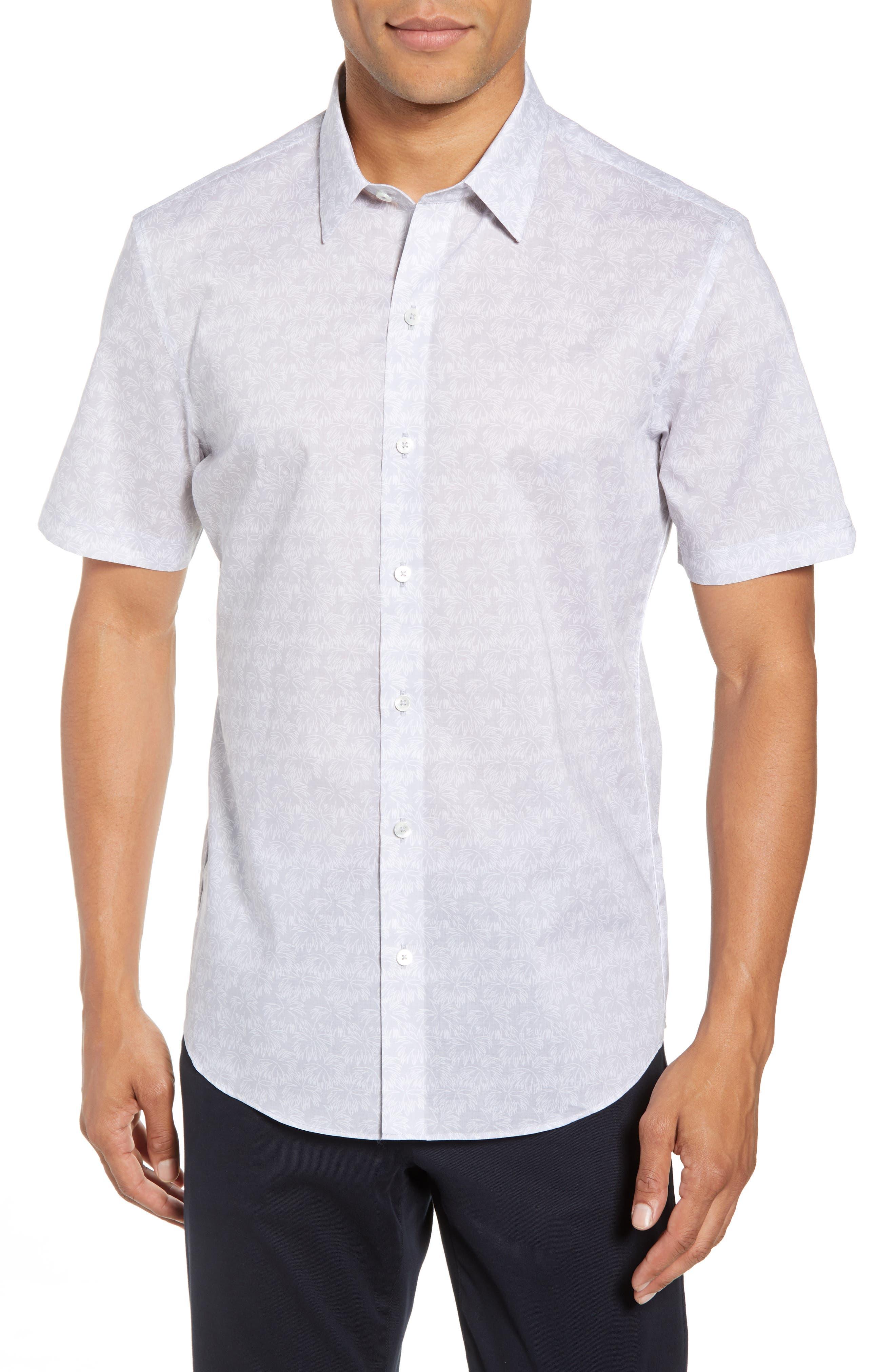 Slenske Trim Fit Sport Shirt,                         Main,                         color, Light Grey