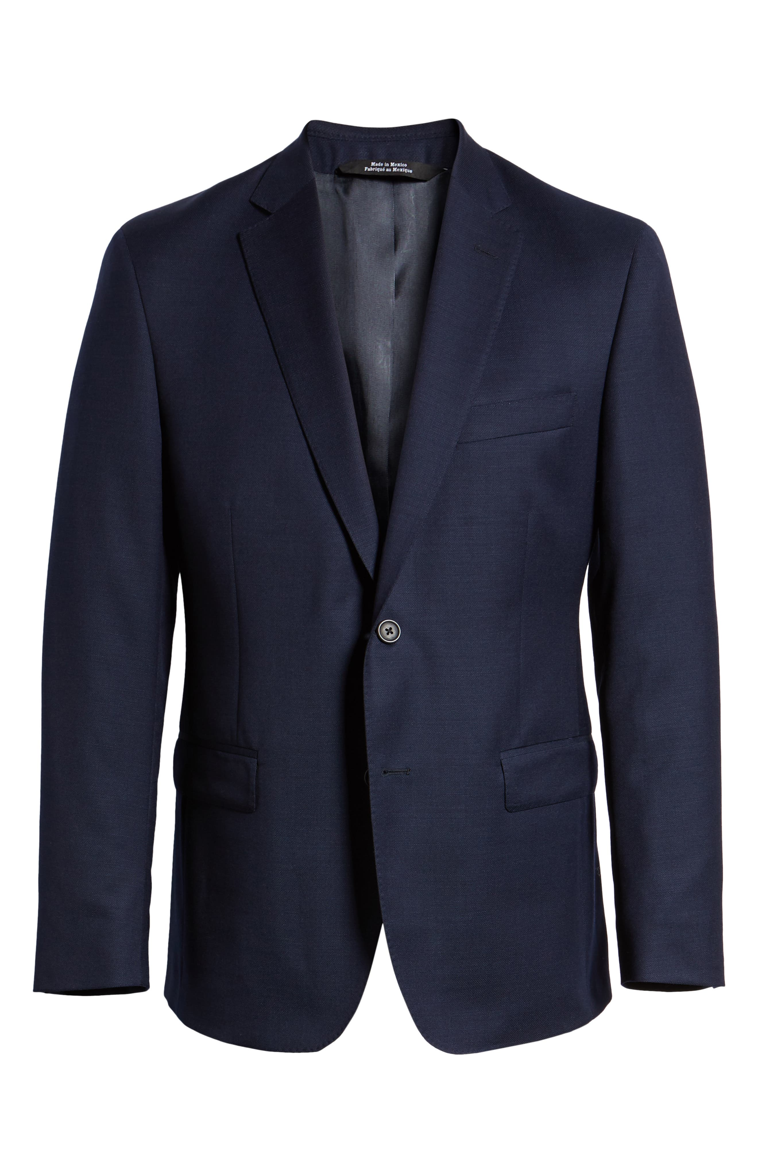 Traditional Fit Wool Blazer,                             Alternate thumbnail 6, color,                             Navy