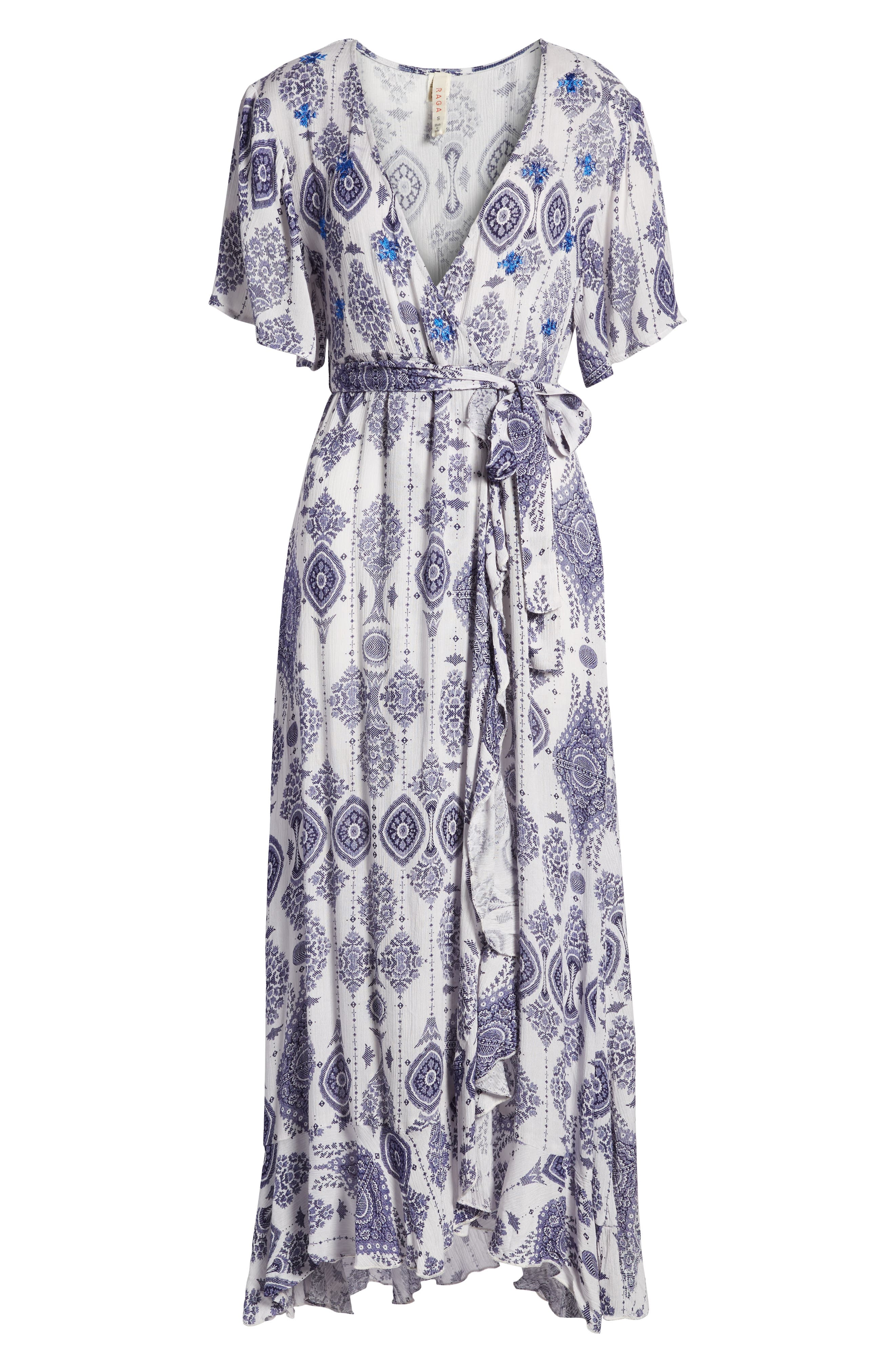 Andrea Maxi Dress,                             Alternate thumbnail 7, color,                             Blue/ White