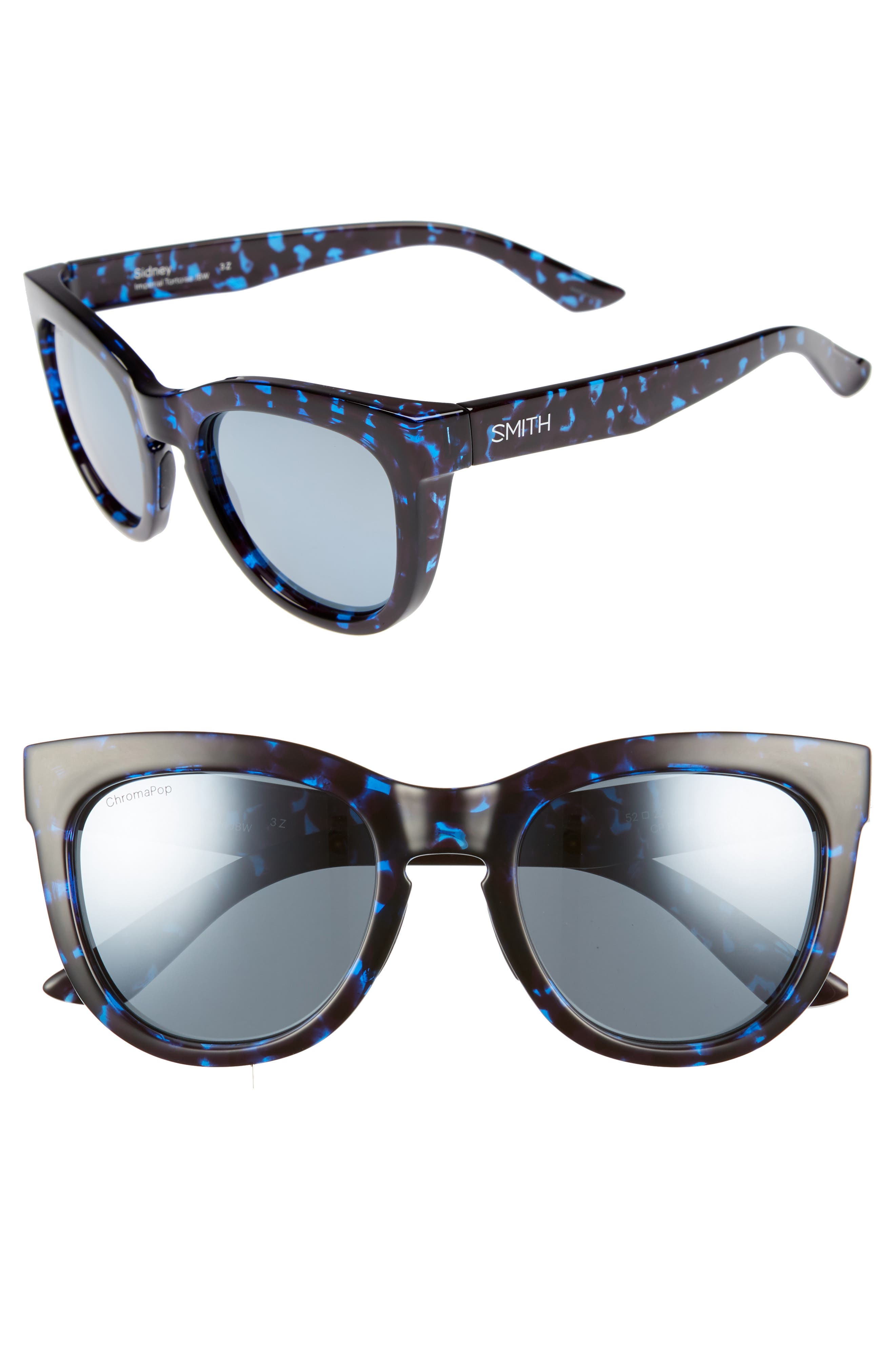 SMITH 'SIDNEY' 55MM POLARIZED SUNGLASSES - IMPERIAL TORTOISE
