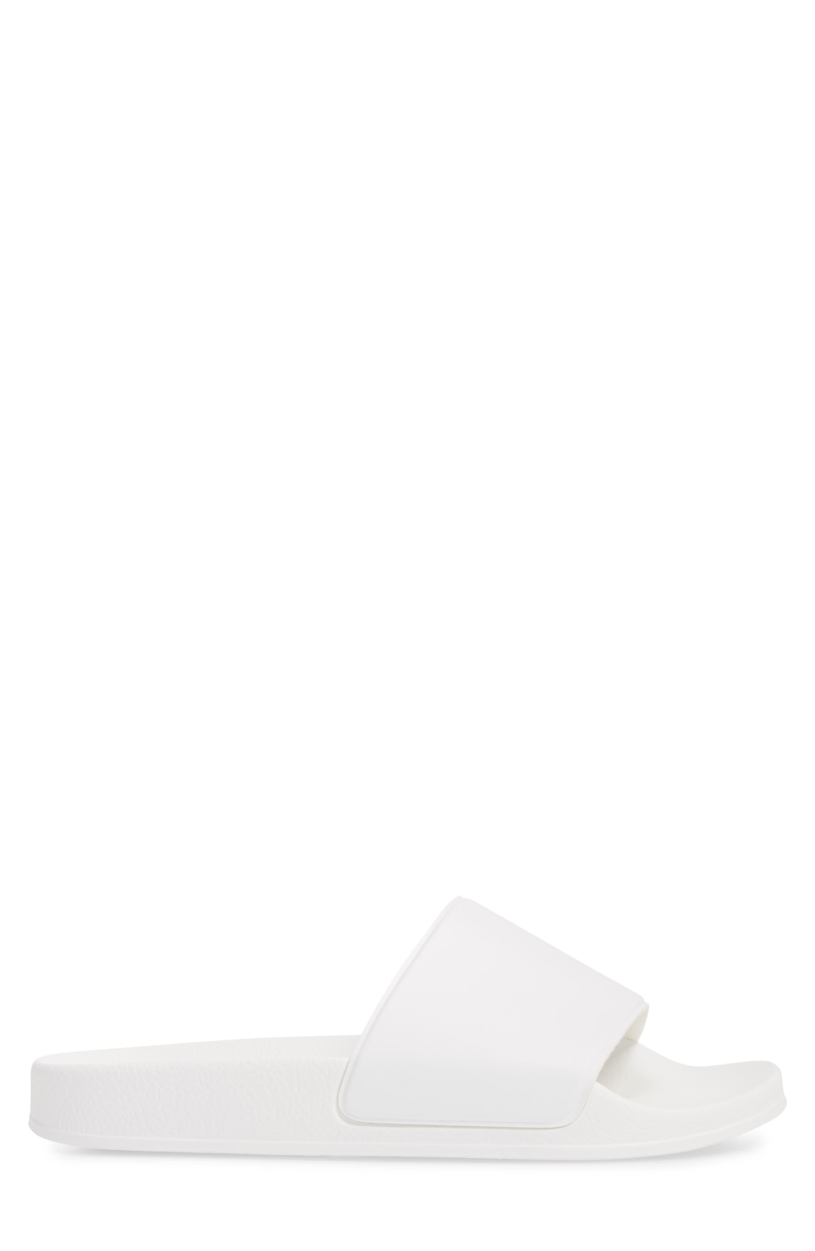 Bondi Slide Sandal,                             Alternate thumbnail 3, color,                             White