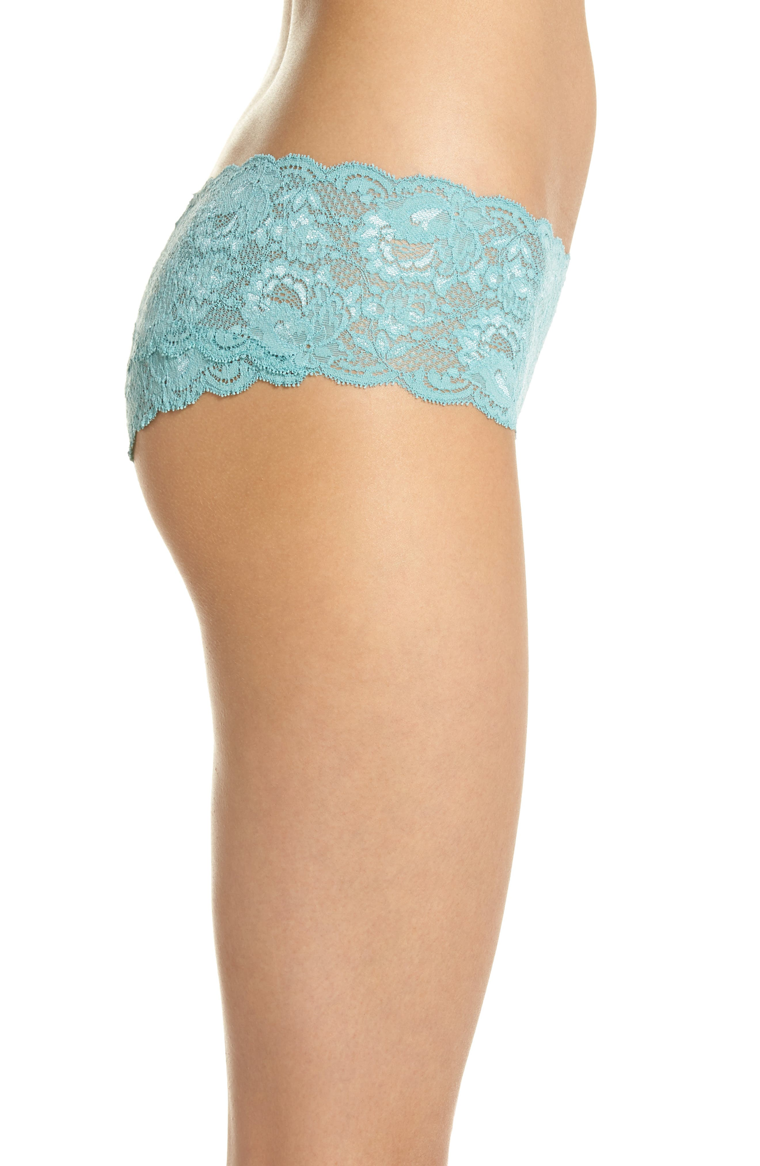 'Never Say Never' Hipster Briefs,                             Alternate thumbnail 3, color,                             Dusty Turquoise