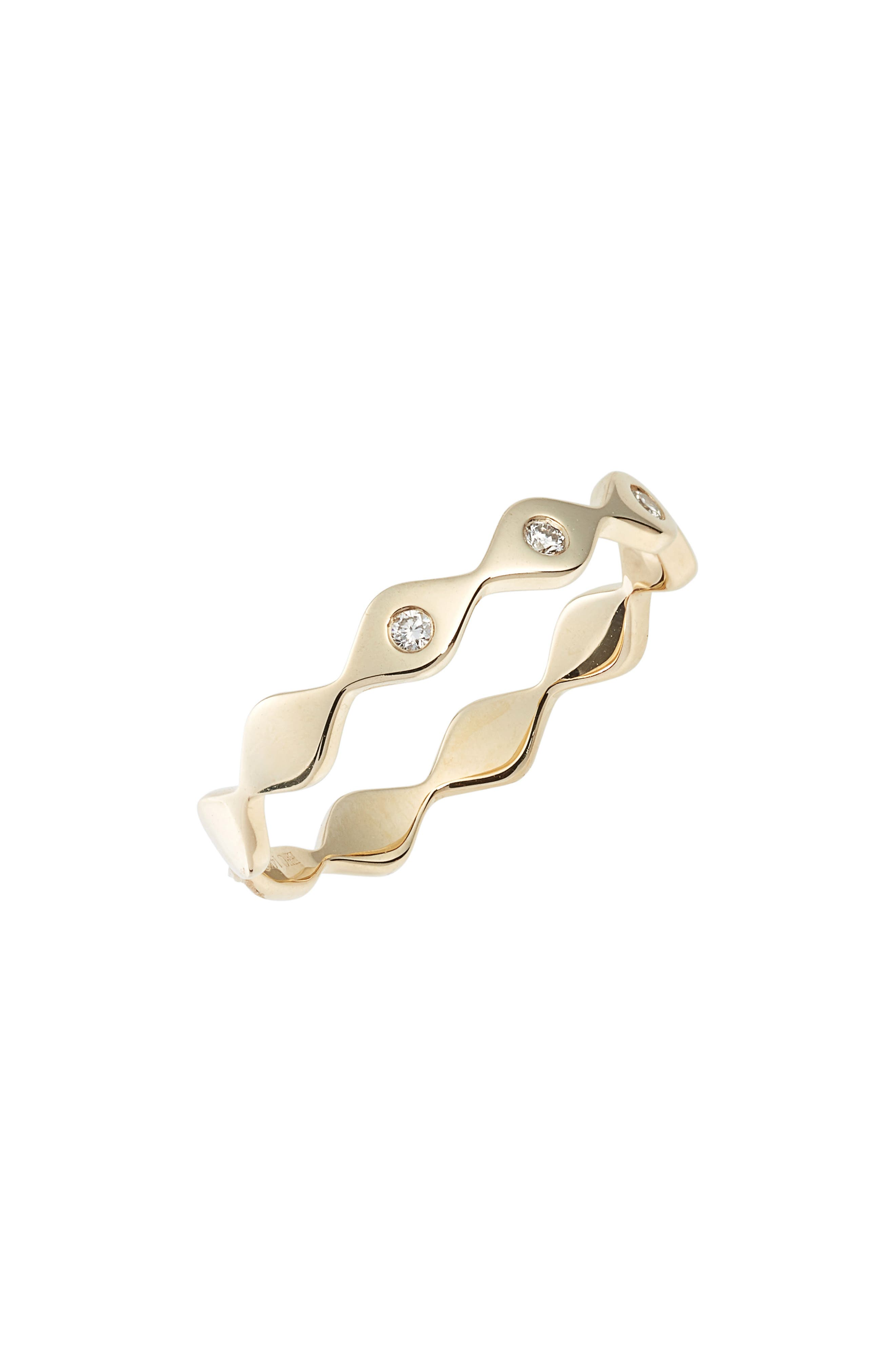 Evil Eye Diamond Stack Ring,                             Main thumbnail 1, color,                             Yellow Gold