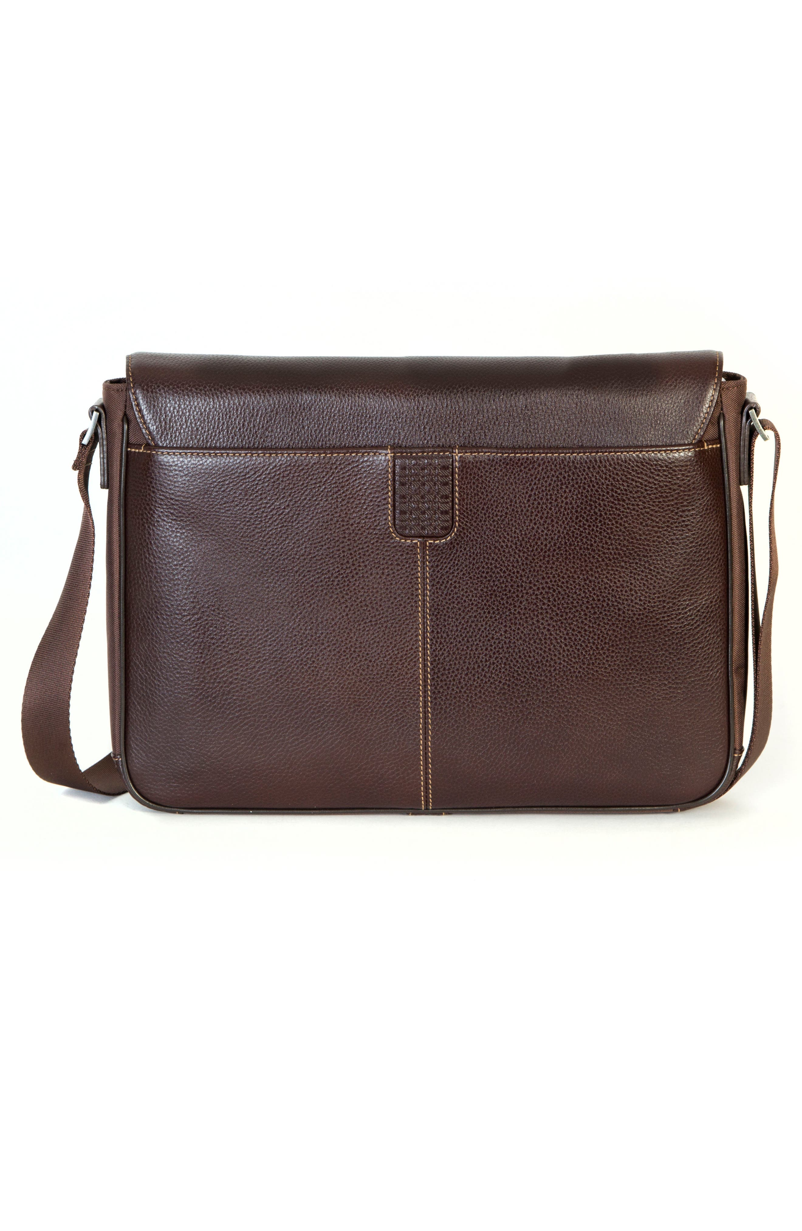 Tyler Leather Messenger Bag,                             Alternate thumbnail 2, color,                             Coffee