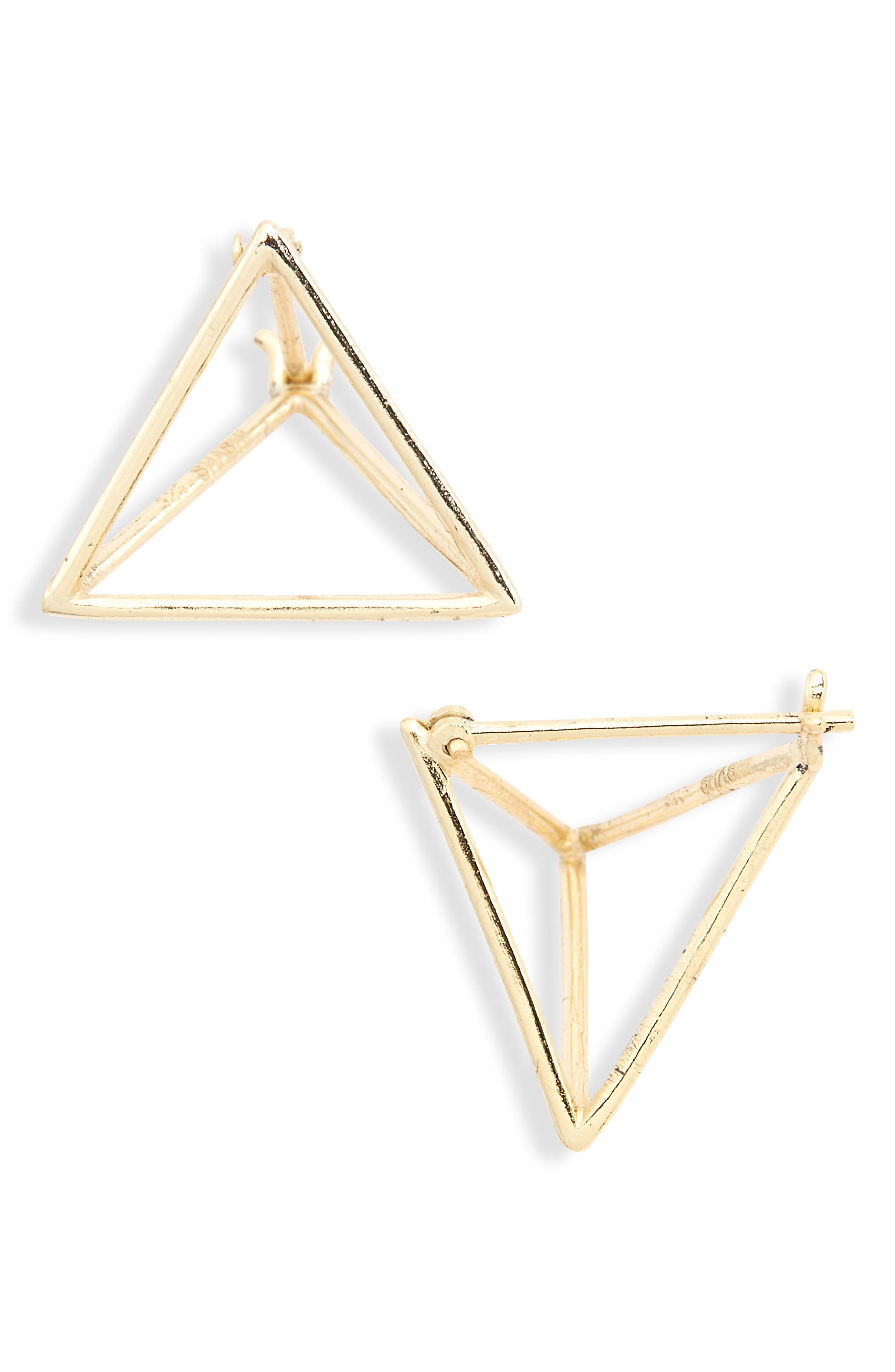 Briana Vermeil Stud Earrings,                         Main,                         color, Yellow Gold