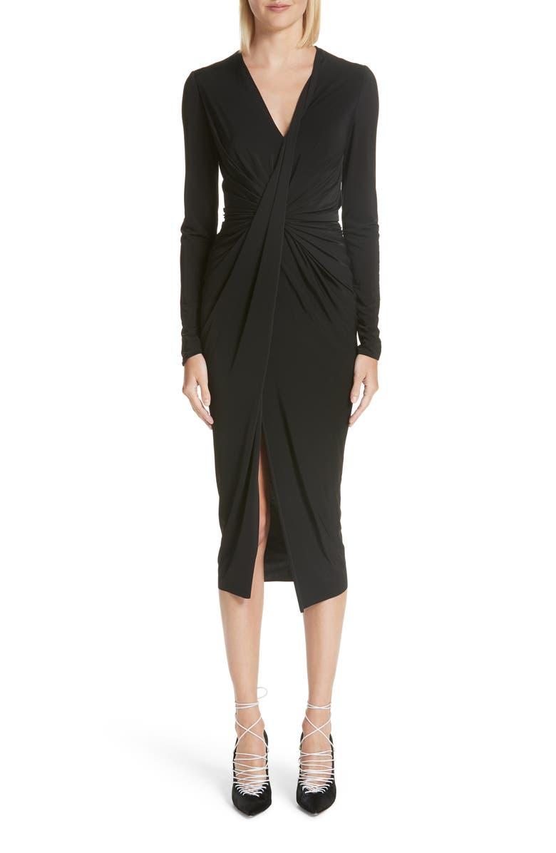Gather Detail Jersey Midi Dress