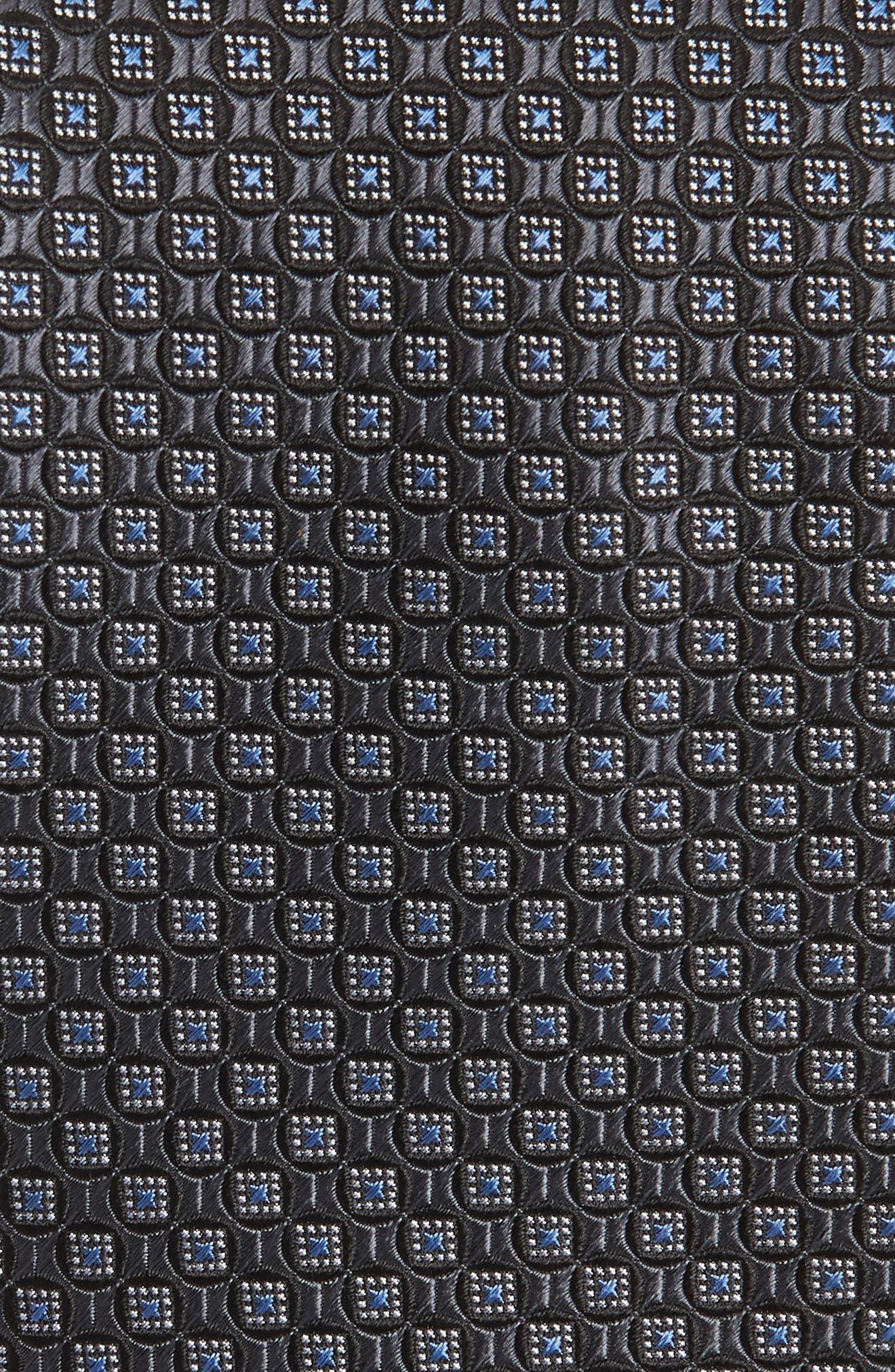 Neat Silk Tie,                             Alternate thumbnail 2, color,                             Black