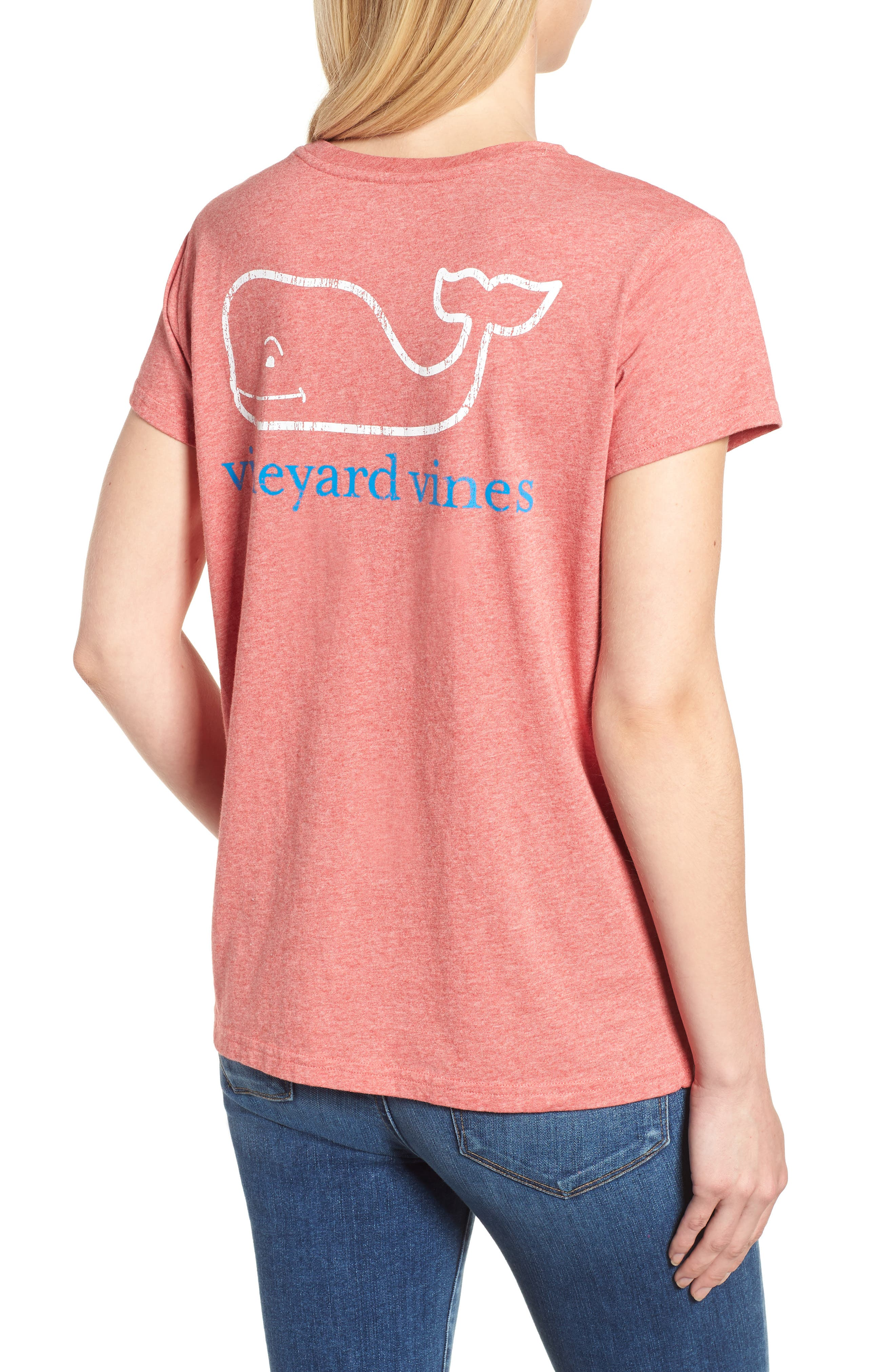 Vintage Whale Logo Tee,                             Alternate thumbnail 2, color,                             Jetty Red