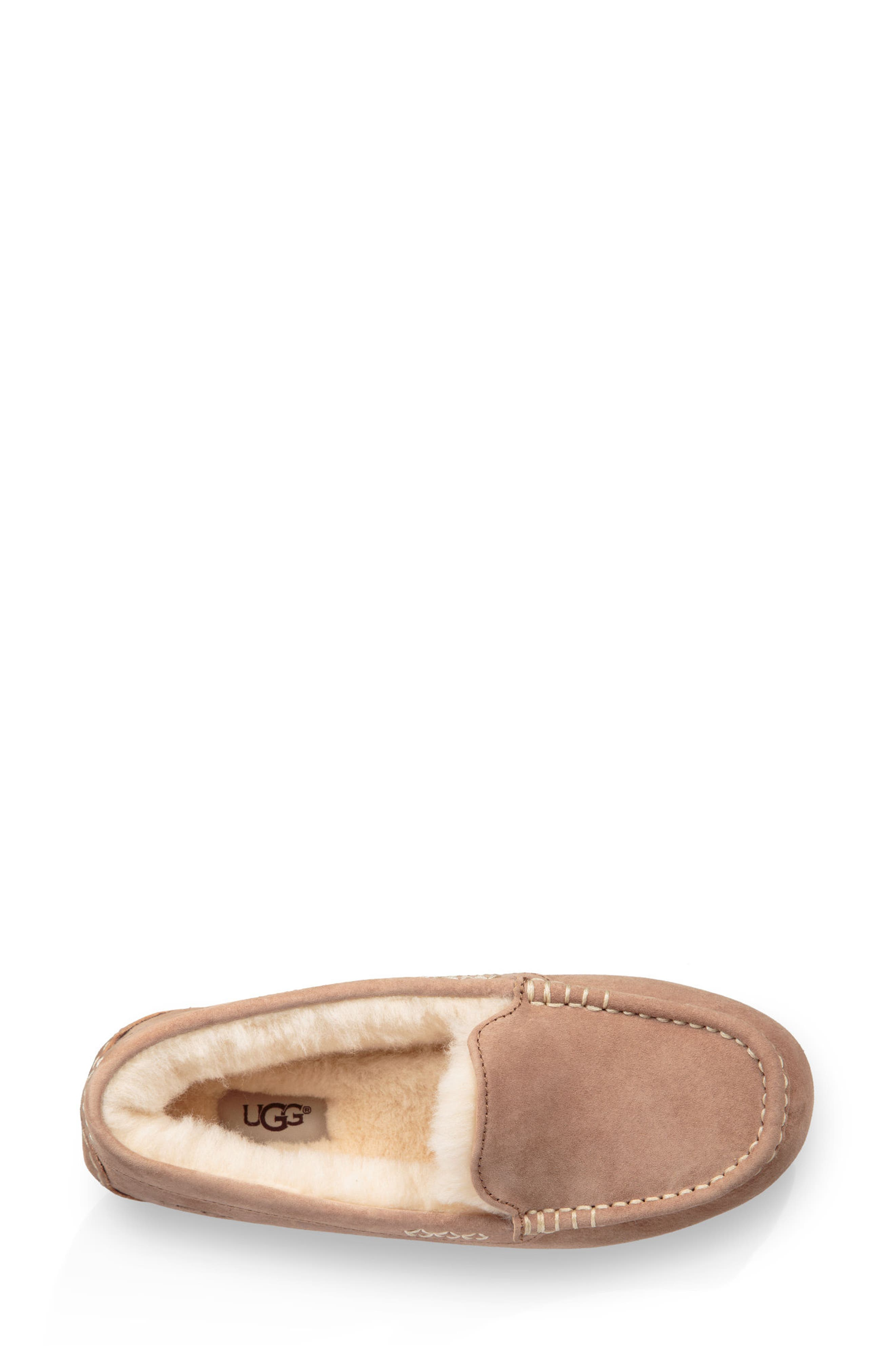 Ansley Water Resistant Slipper,                             Alternate thumbnail 4, color,                             Fawn Leather