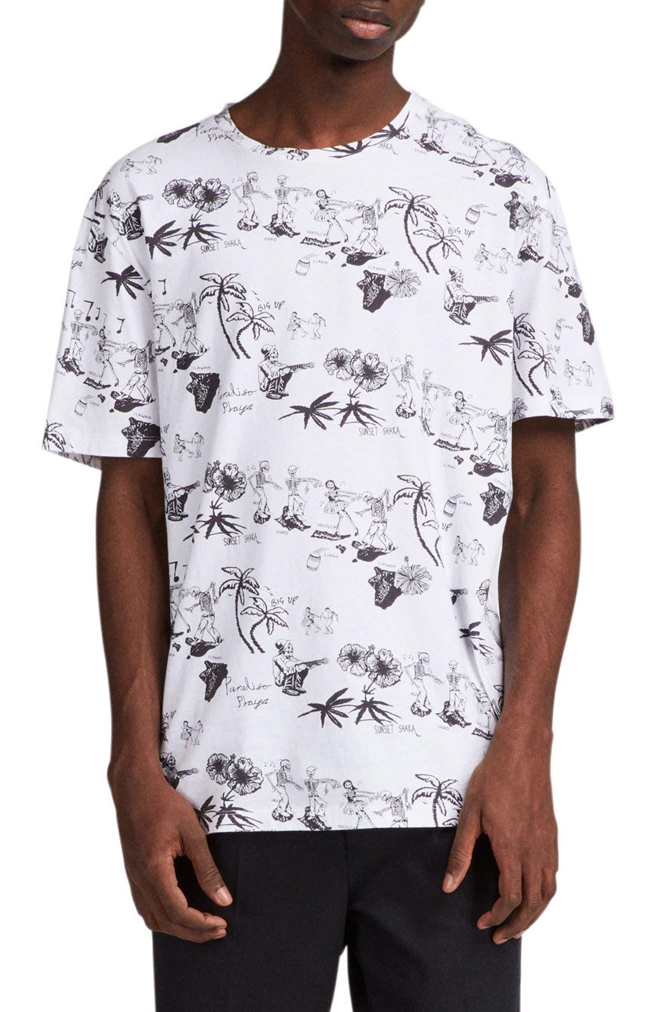 Big Up Graphic T-Shirt,                             Main thumbnail 1, color,                             Optic White