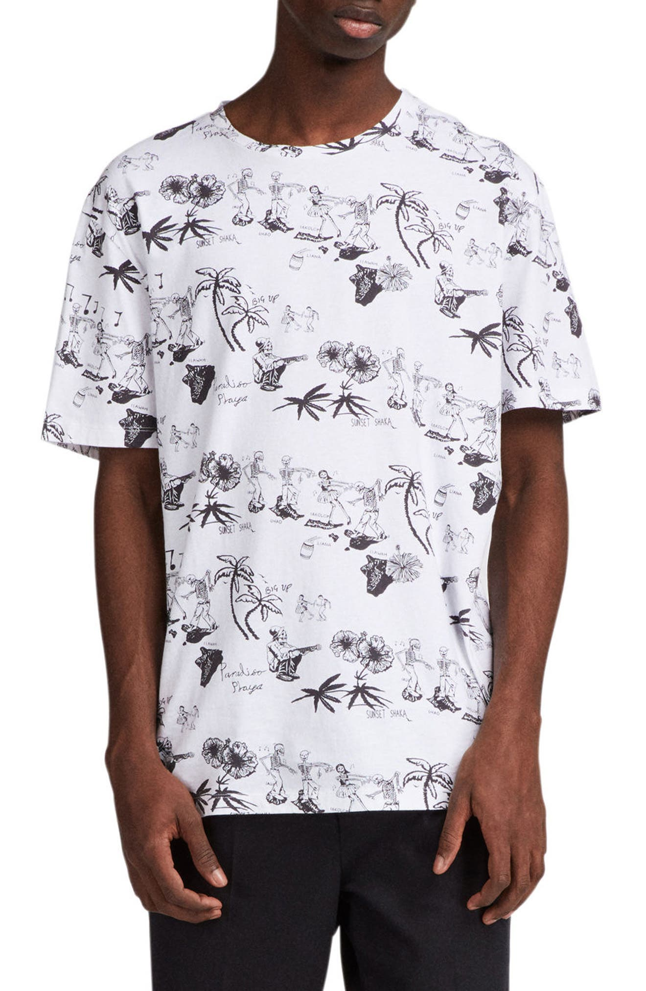 Big Up Graphic T-Shirt,                         Main,                         color, Optic White