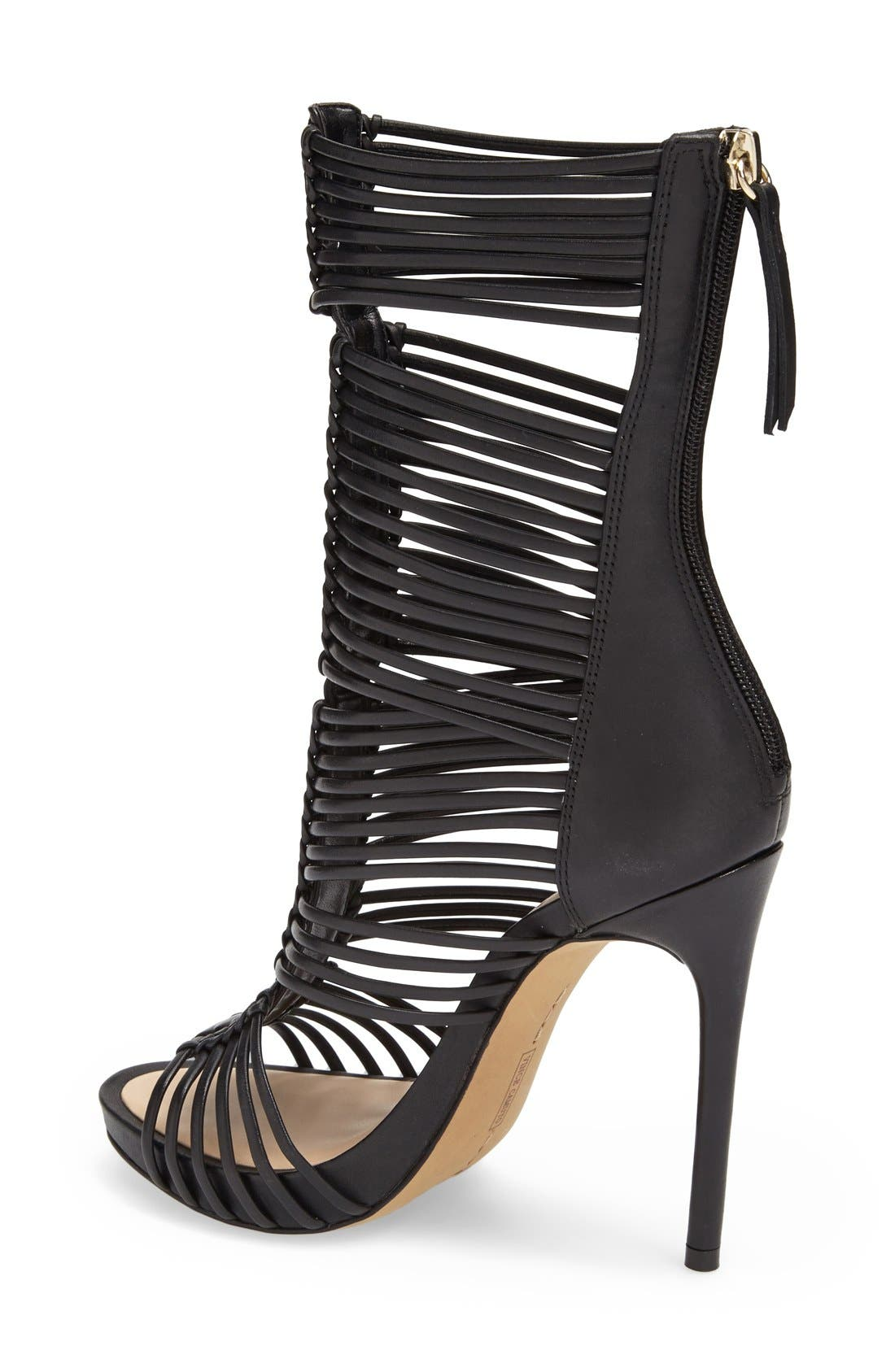 Alternate Image 2  - Vince Camuto 'Barbara' Strappy Caged Leather Sandal (Women)