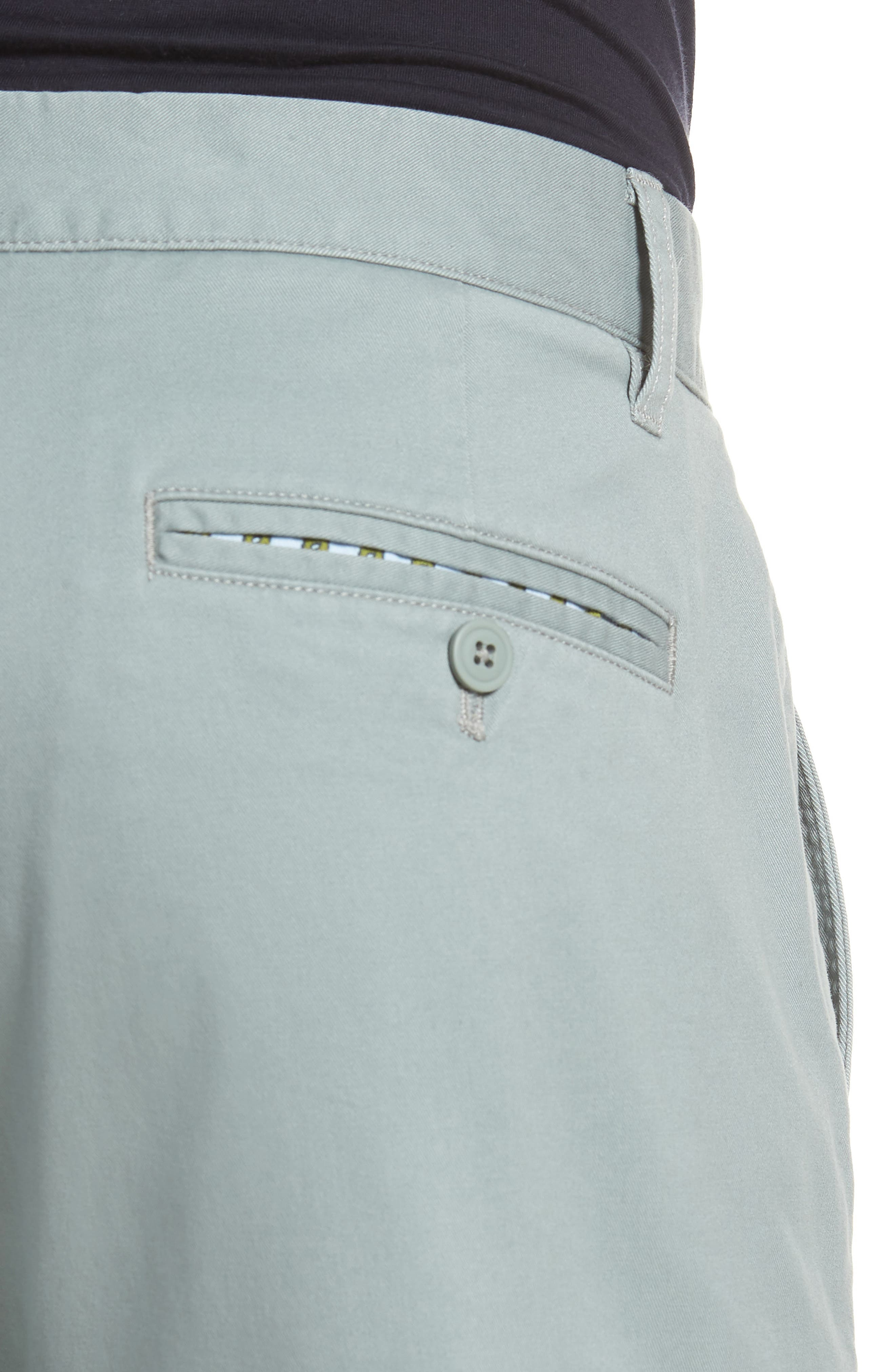 Tailored Fit Washed Stretch Cotton Chinos,                             Alternate thumbnail 5, color,                             Rye Grass
