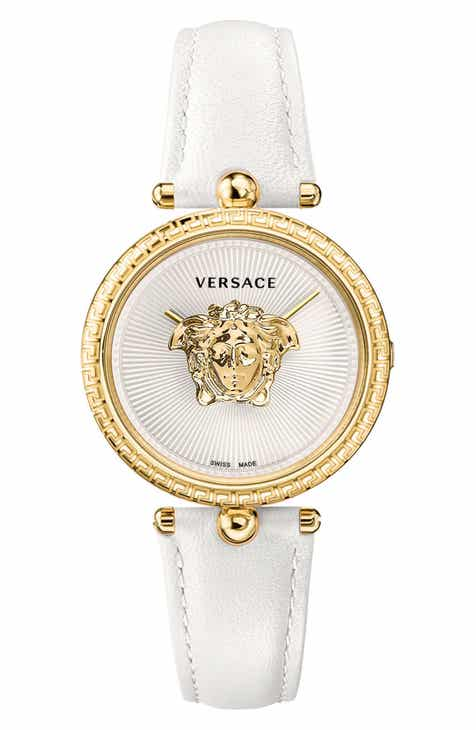 Versace Palazzo Empire Leather Strap Watch 9fec99302c
