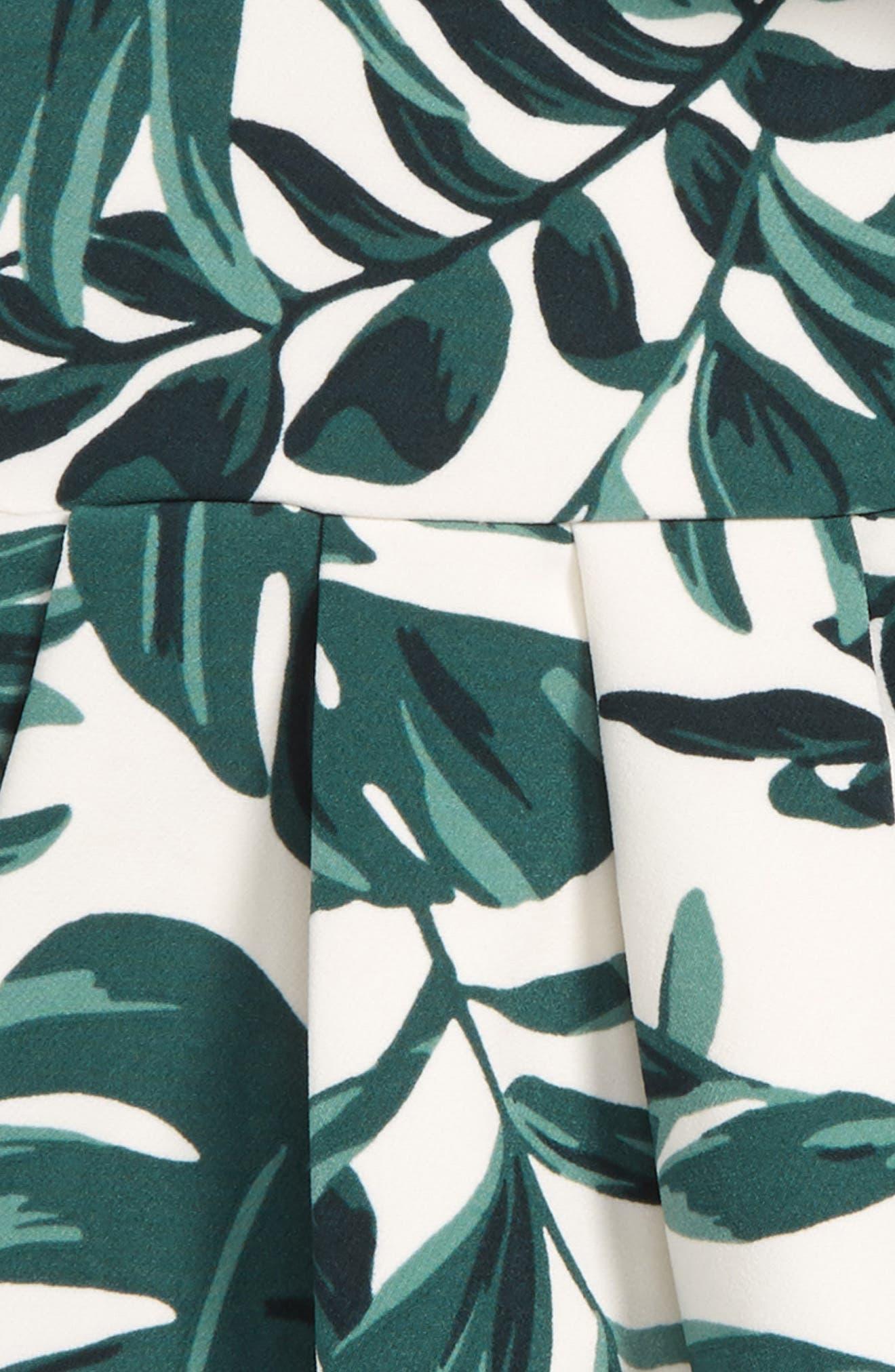 Tropics Rocco Dress,                             Alternate thumbnail 2, color,                             White Palms