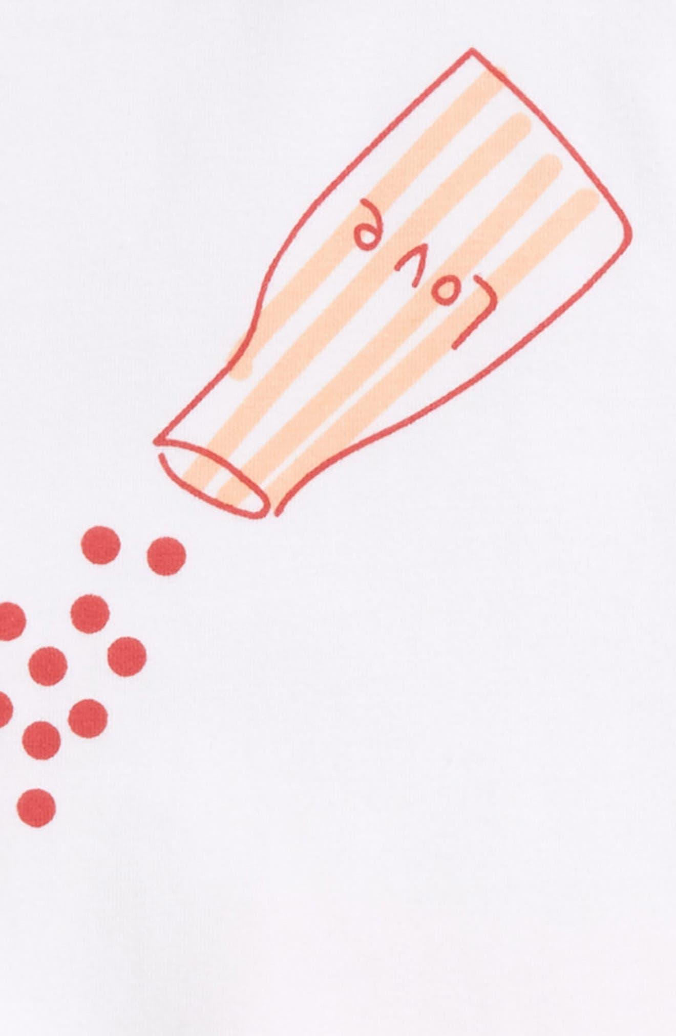 Sprinkle Love Print Tee & Leggings Set,                             Alternate thumbnail 2, color,                             White/ Peach
