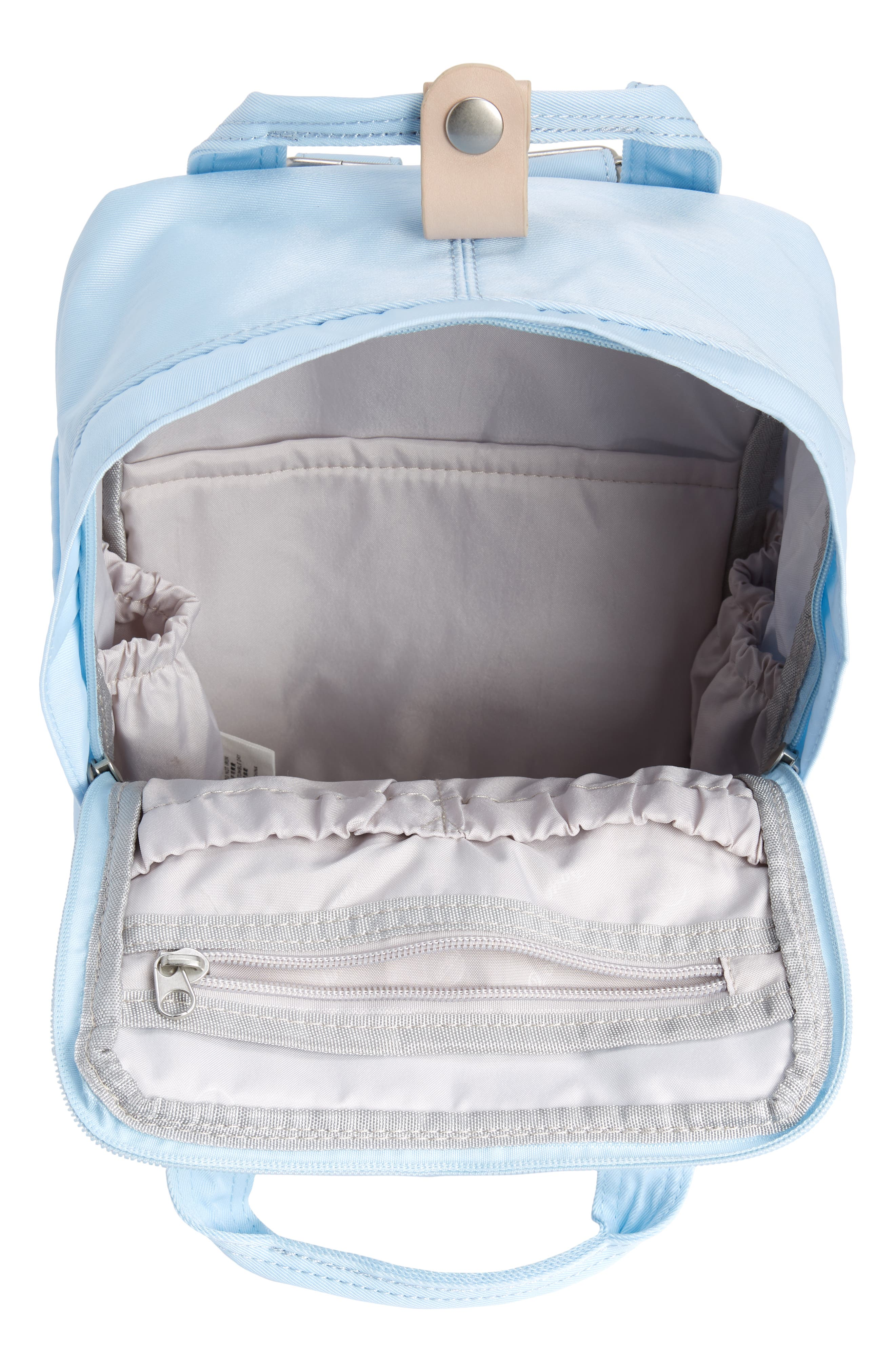 Mini Macaroon Water Resistant Backpack,                             Alternate thumbnail 3, color,                             Iceberg