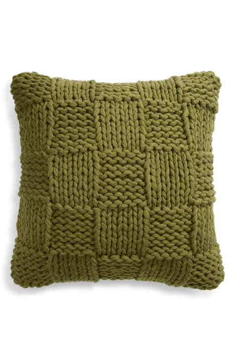 Treasure Bond Jersey Rope Basket Accent Pillow