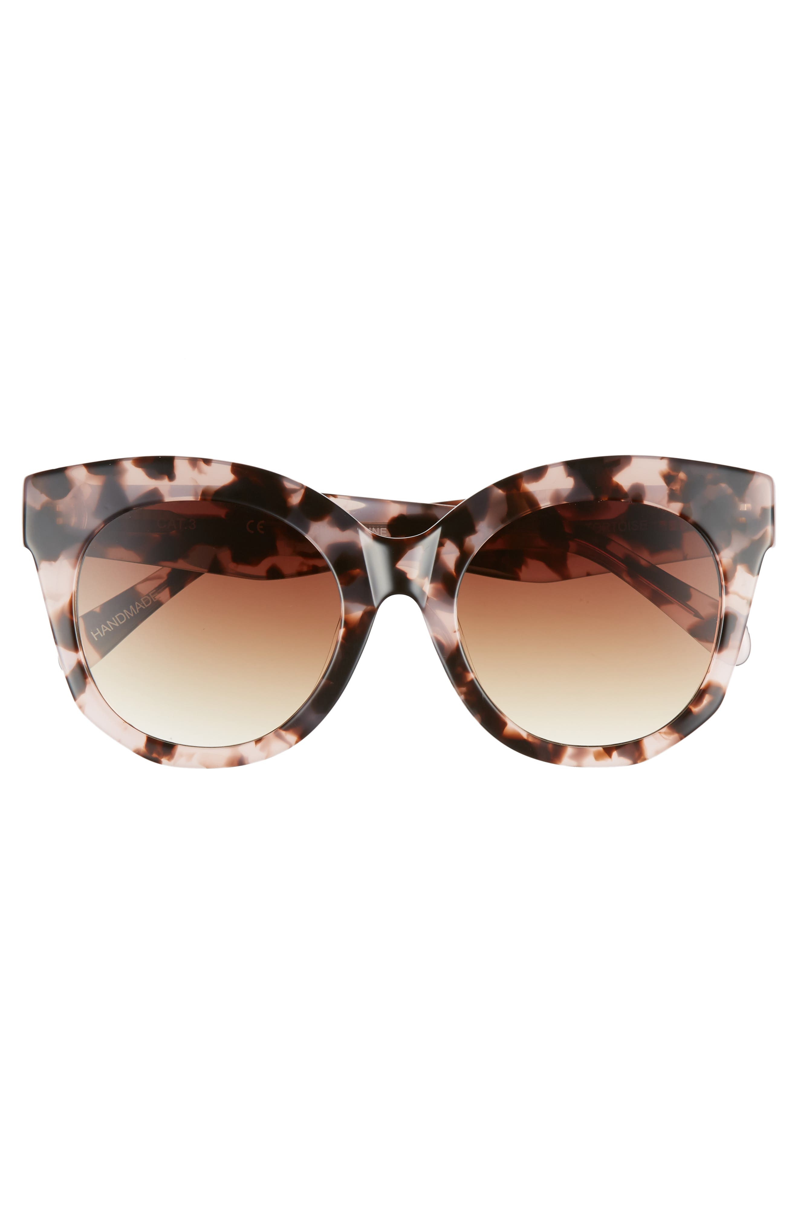 Gillian 52mm Sunglasses,                             Alternate thumbnail 2, color,                             Pink Tortoise