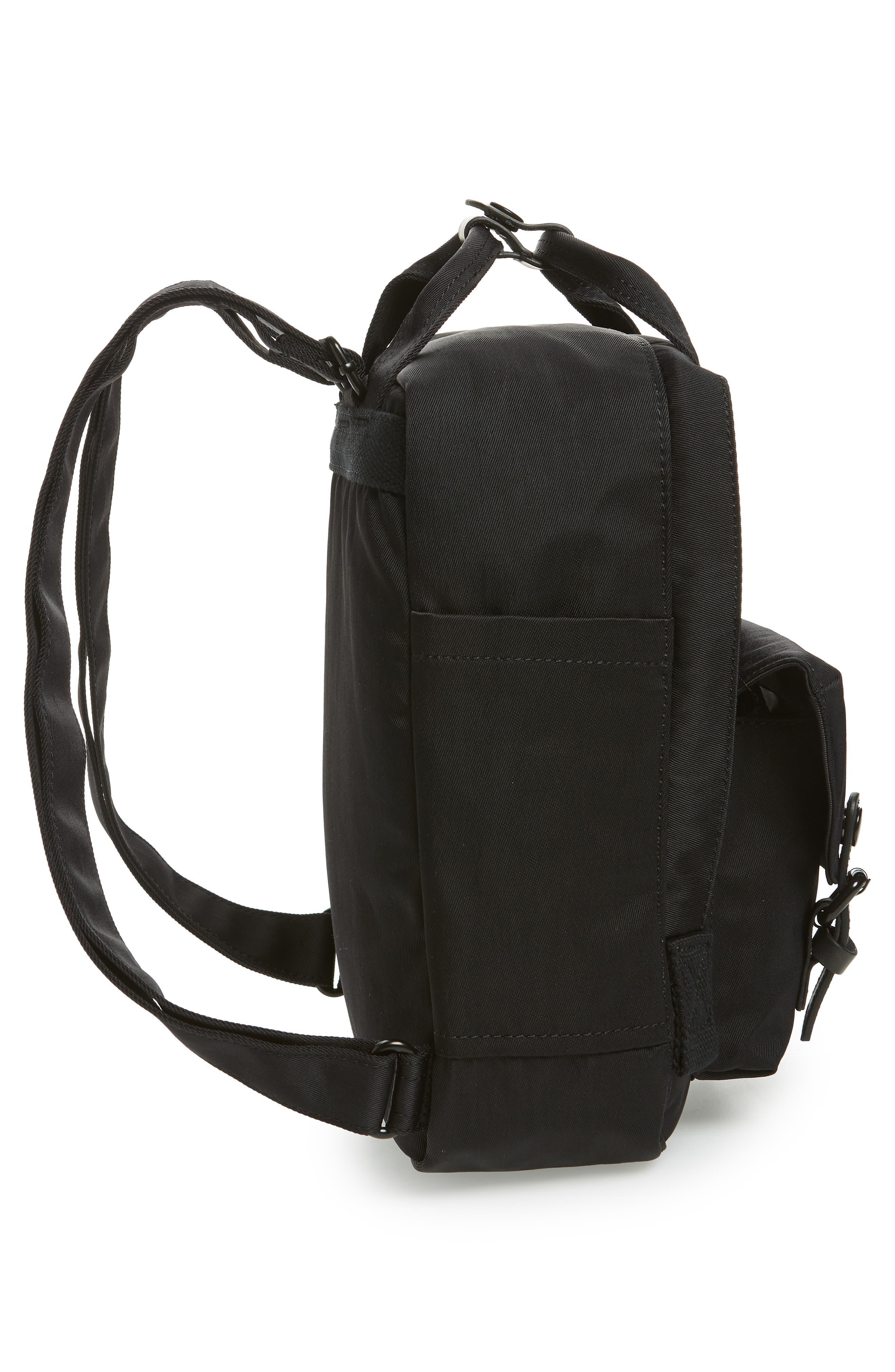 Mini Macaroon Black Series Water Resistant Backpack,                             Alternate thumbnail 3, color,                             Black