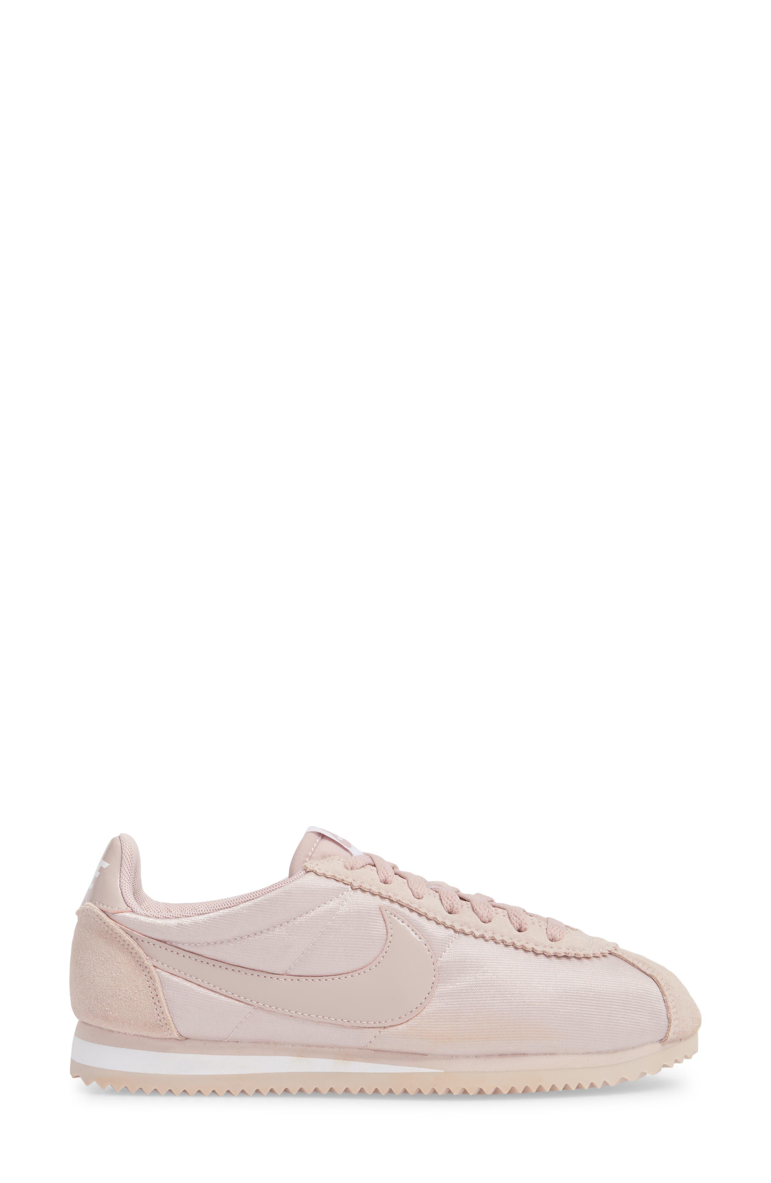 'Classic Cortez' Sneaker,                             Alternate thumbnail 3, color,                             Particle Rose/ Particle Rose