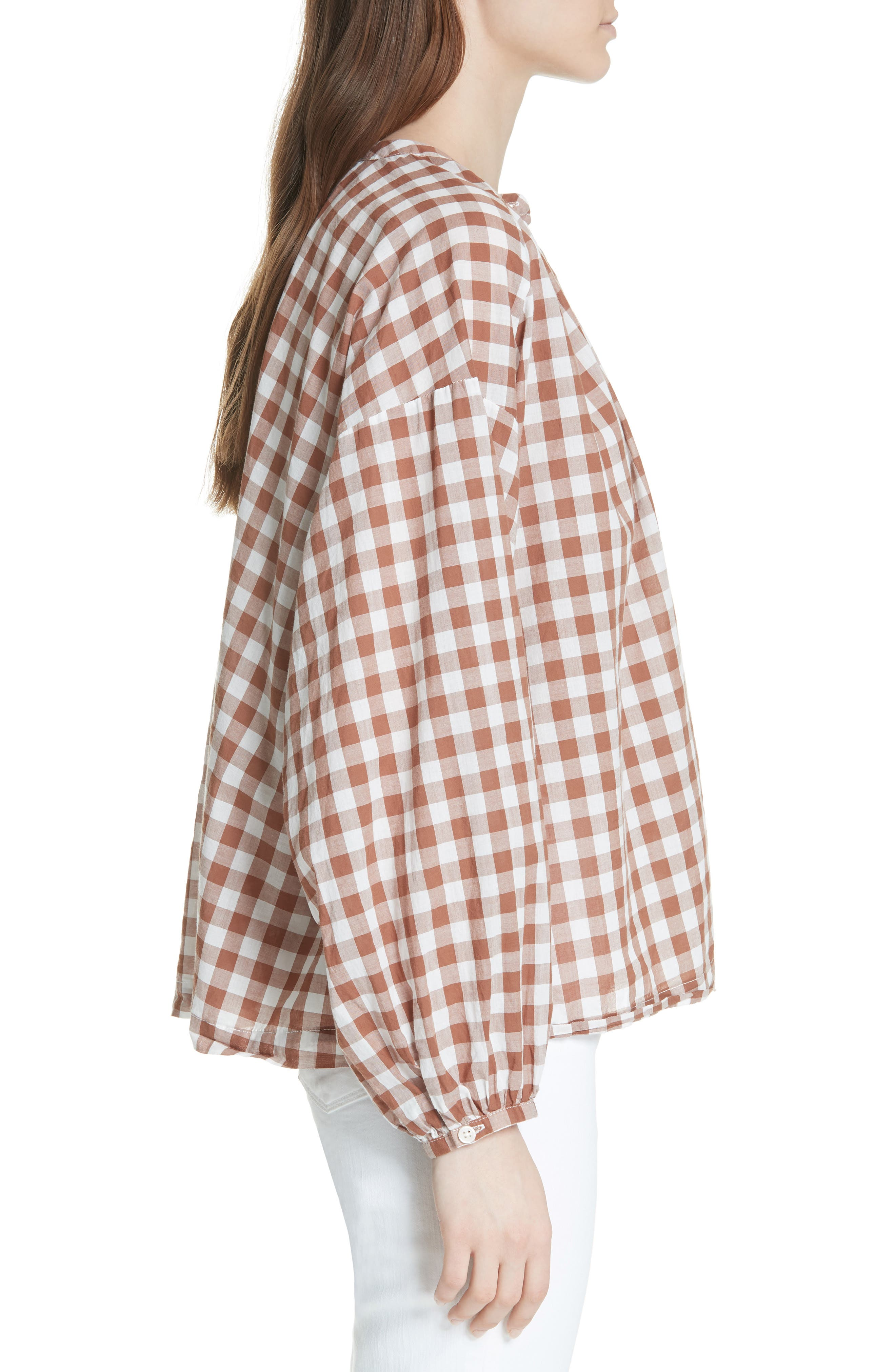 The Handsome Button-Up Shirt,                             Alternate thumbnail 3, color,                             Carob Check