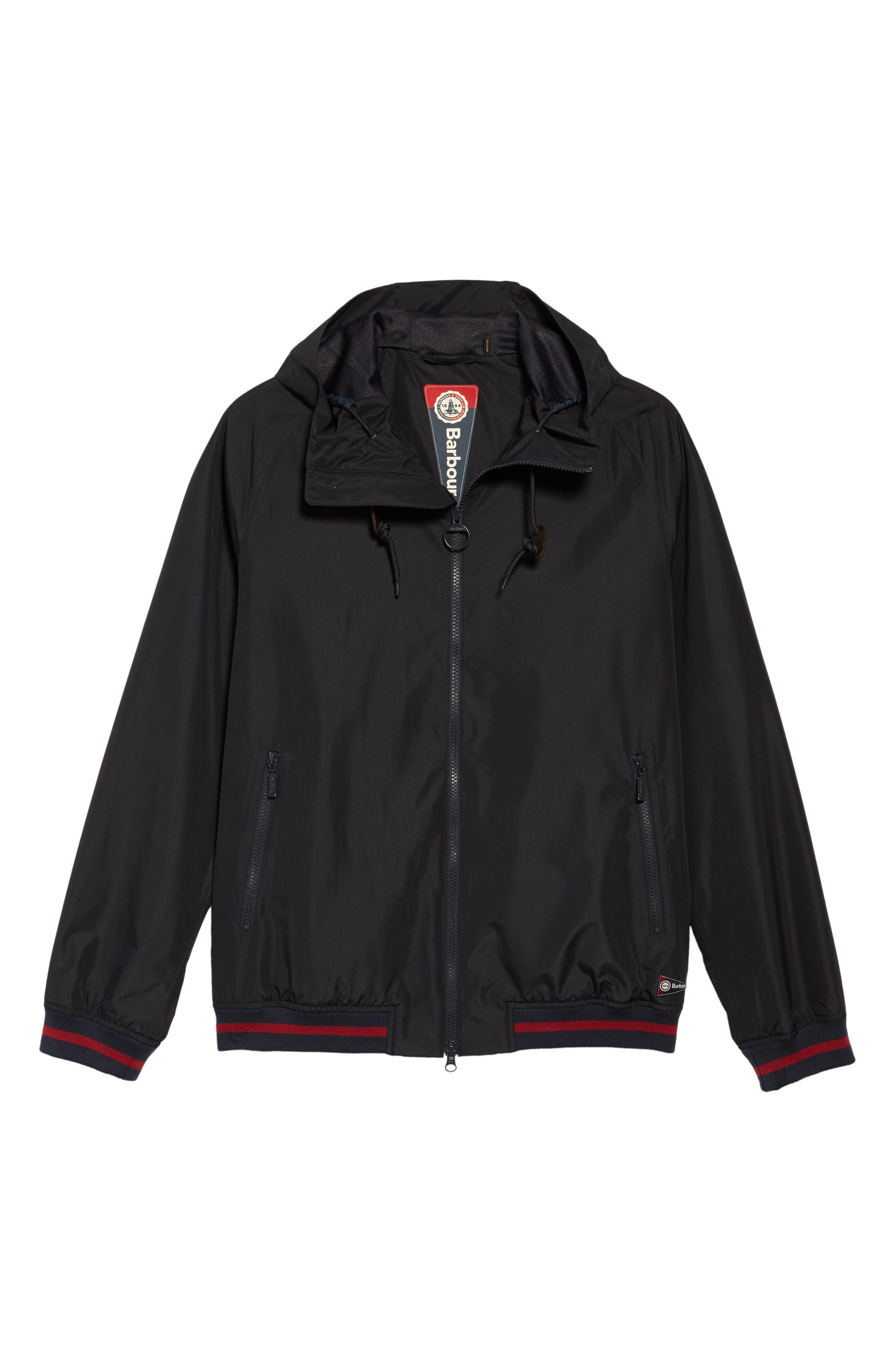 Twent Waterproof Jacket,                             Alternate thumbnail 6, color,                             Navy