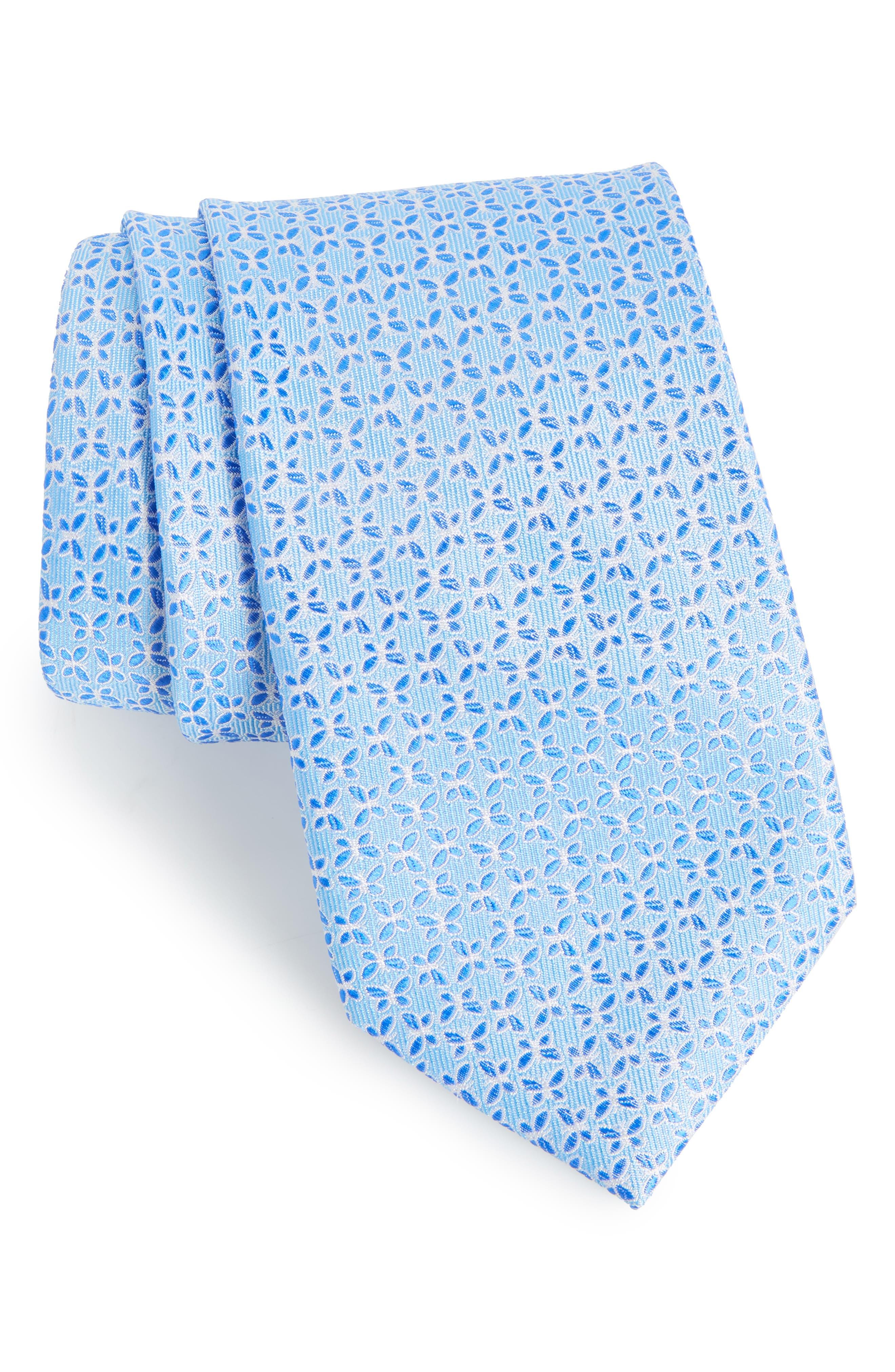 Savannah Butterfly Silk Tie,                             Main thumbnail 1, color,                             Aqua