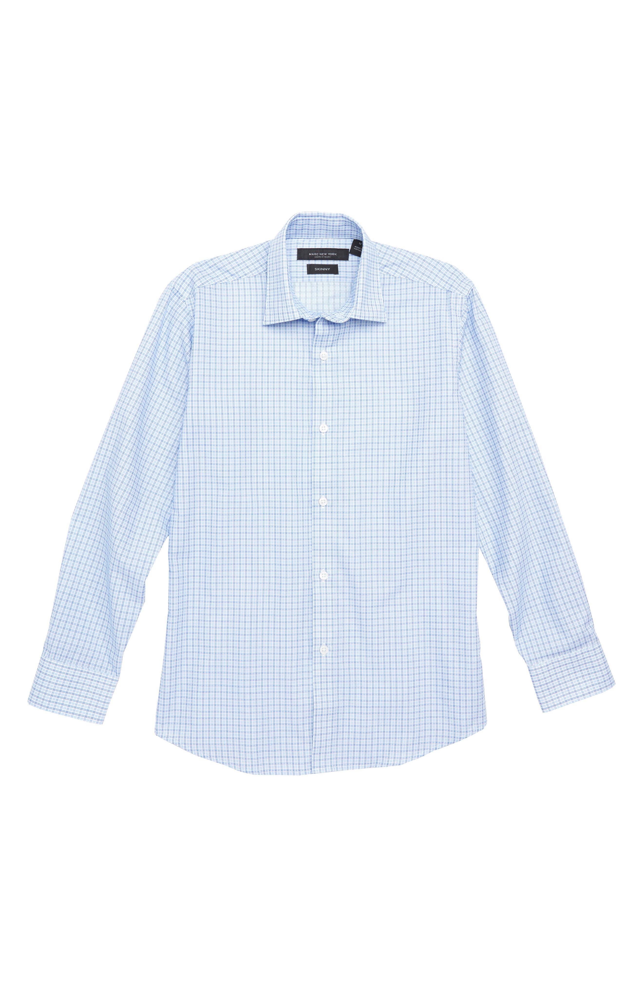 Check Dress Shirt,                         Main,                         color, Royal Blue