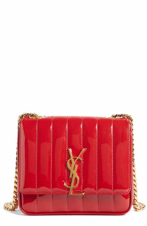 282eeeea30455d Saint Laurent Small Vicky Patent Leather Crossbody Bag