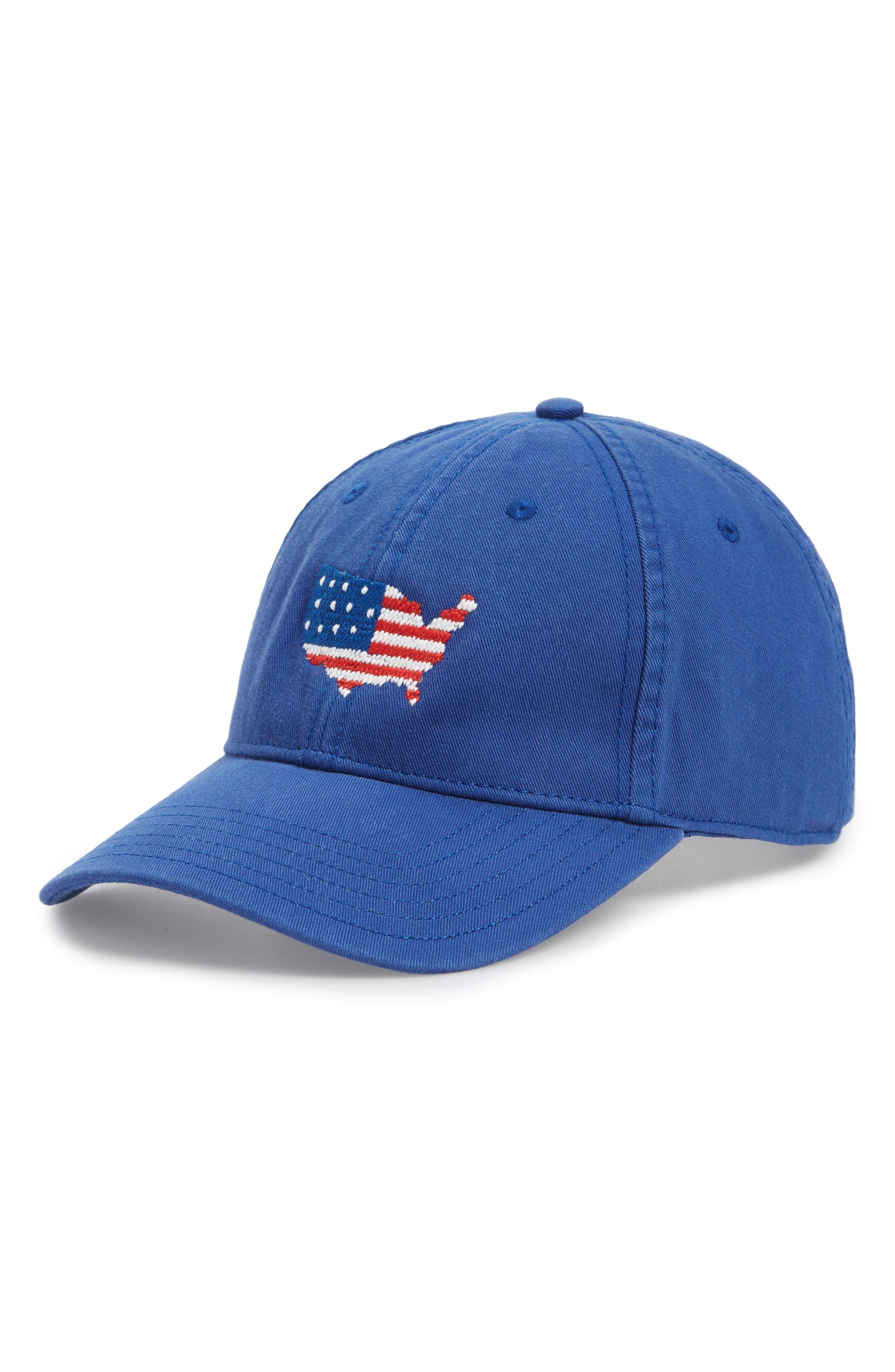 USA Baseball Cap,                         Main,                         color, Bright Navy
