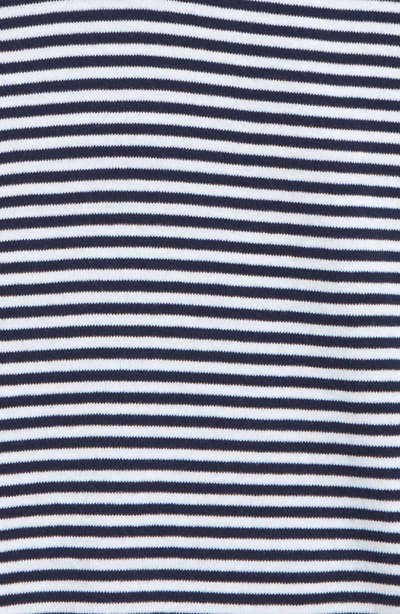 Stripe Organic Cotton T-Shirt,                             Alternate thumbnail 2, color,                             Navy/ White Stripe