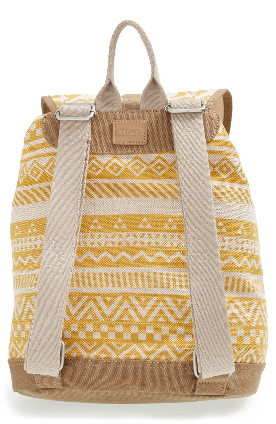 Alternate Image 3  - TOMS 'Traveler' Canvas Backpack
