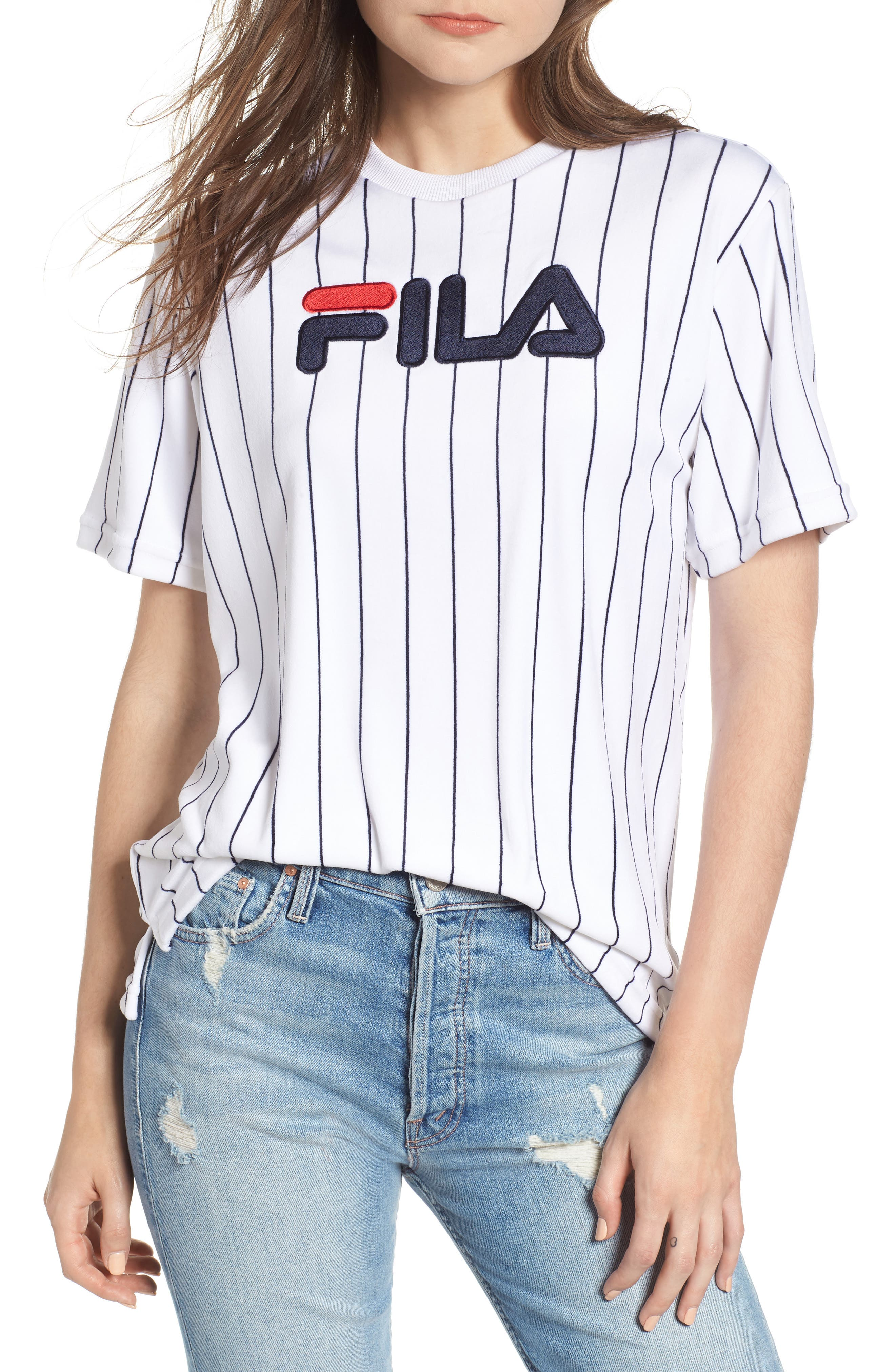 Tux Logo Velour Tee by Fila