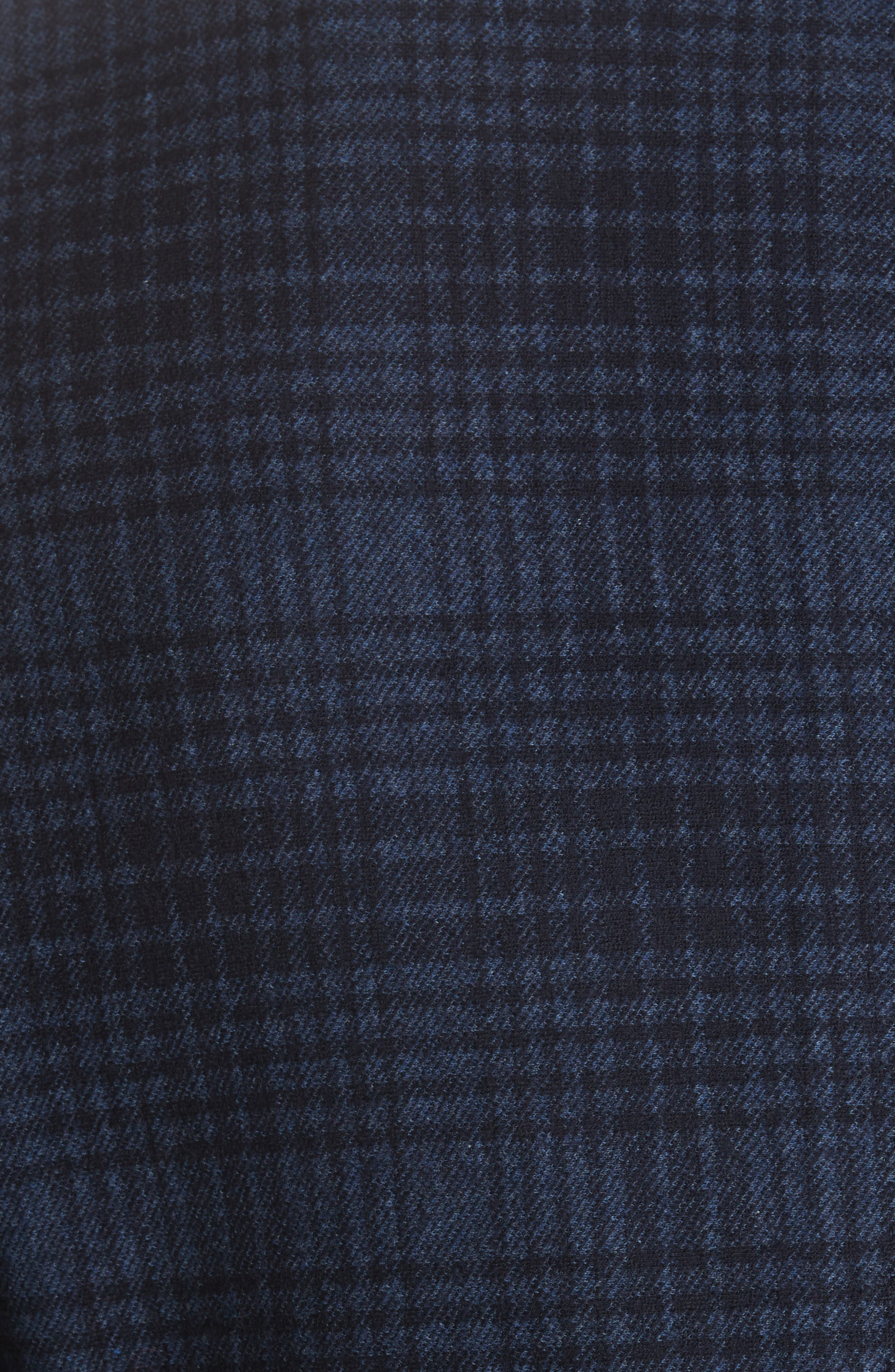 Slim Fit Plaid Wool & Cotton Sport Coat,                             Alternate thumbnail 3, color,                             Blue