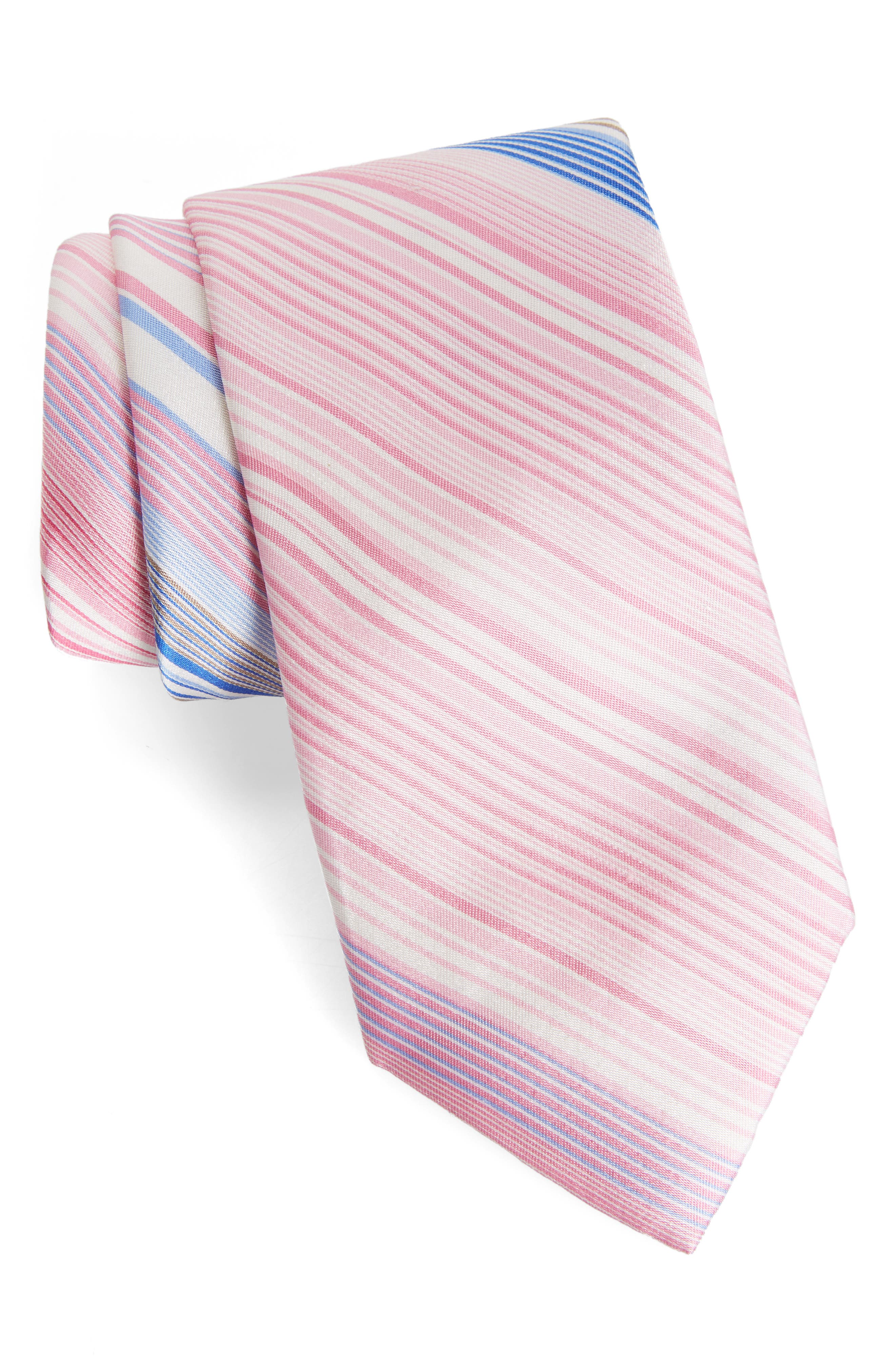 Magnolia Silk Tie,                             Main thumbnail 1, color,                             Pink