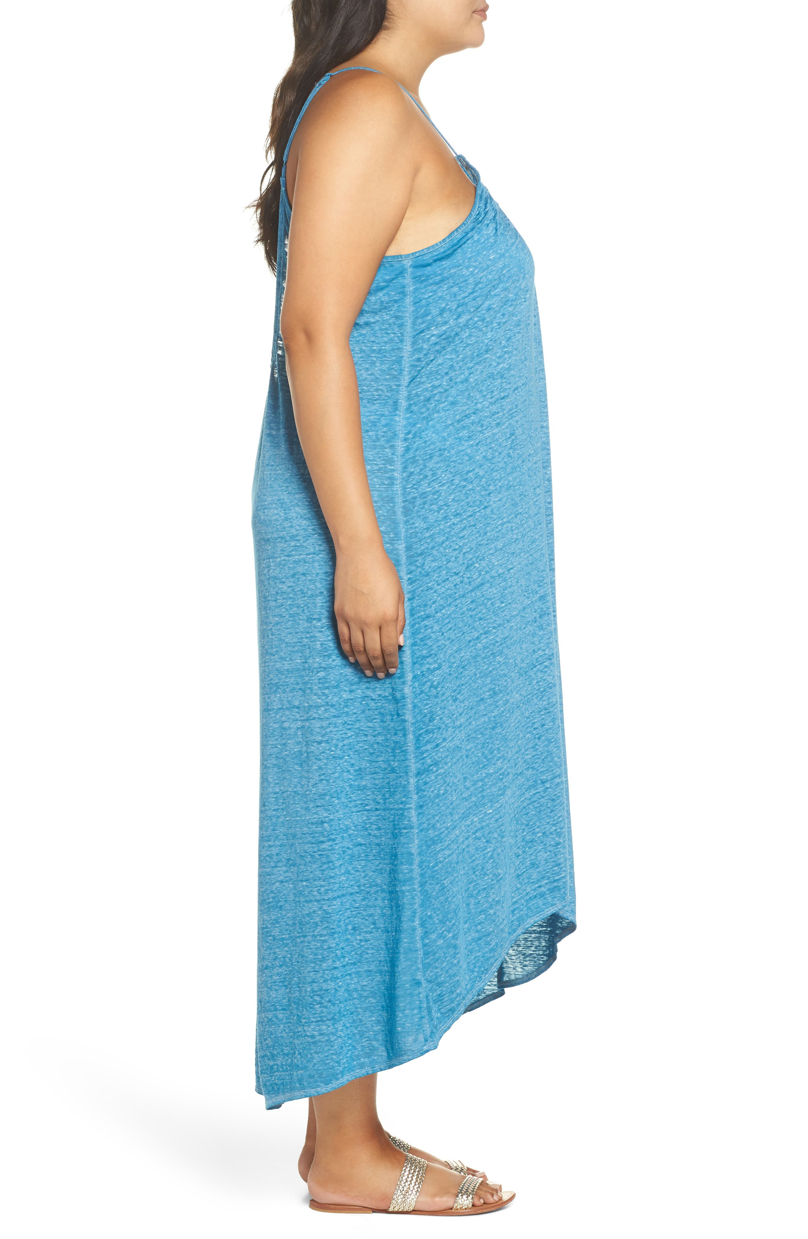 Maxi Cover-Up Dress,                             Alternate thumbnail 5, color,                             Teal Turkish