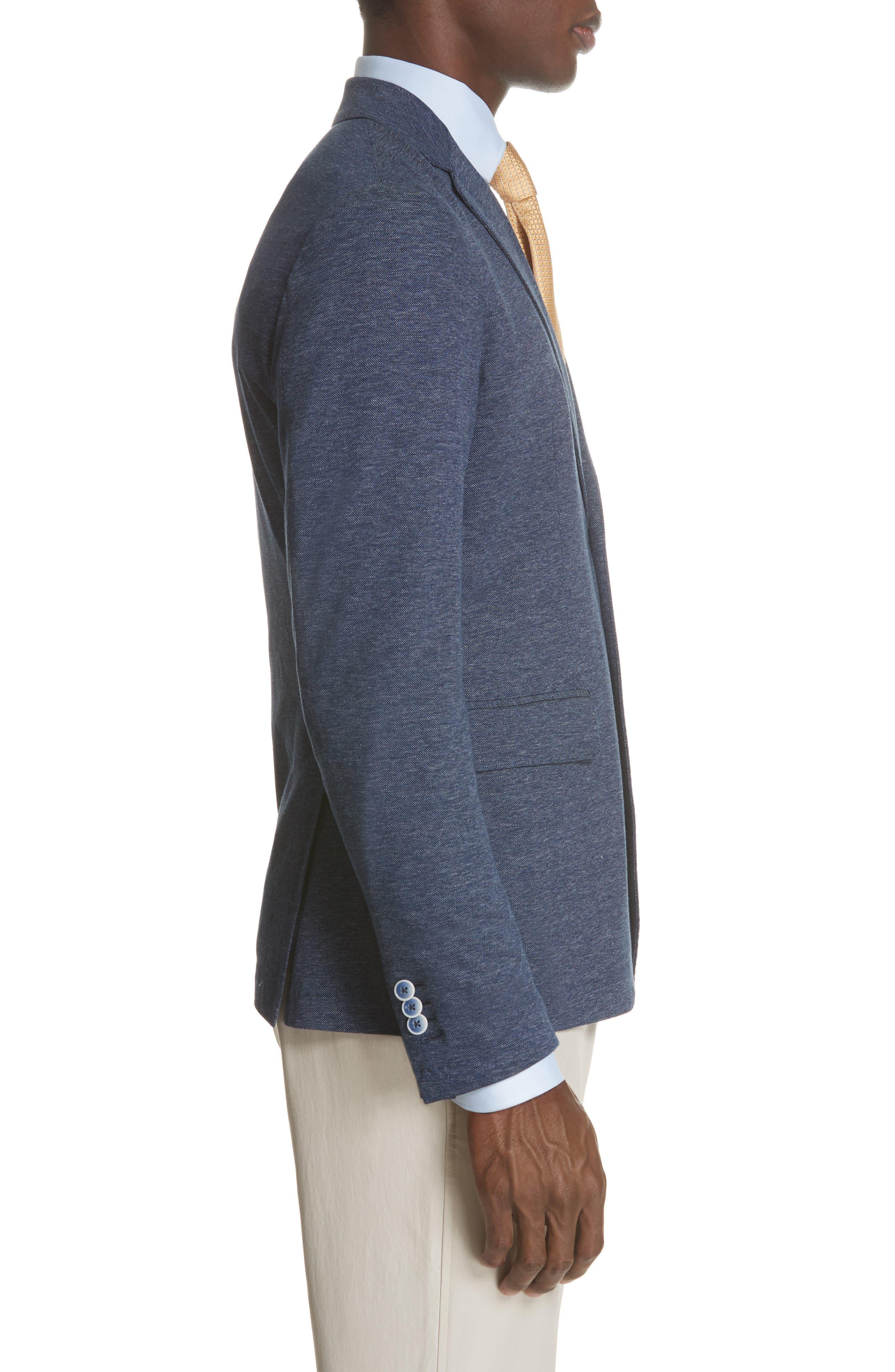 Slim Fit Cotton Blazer,                             Alternate thumbnail 5, color,                             Blue