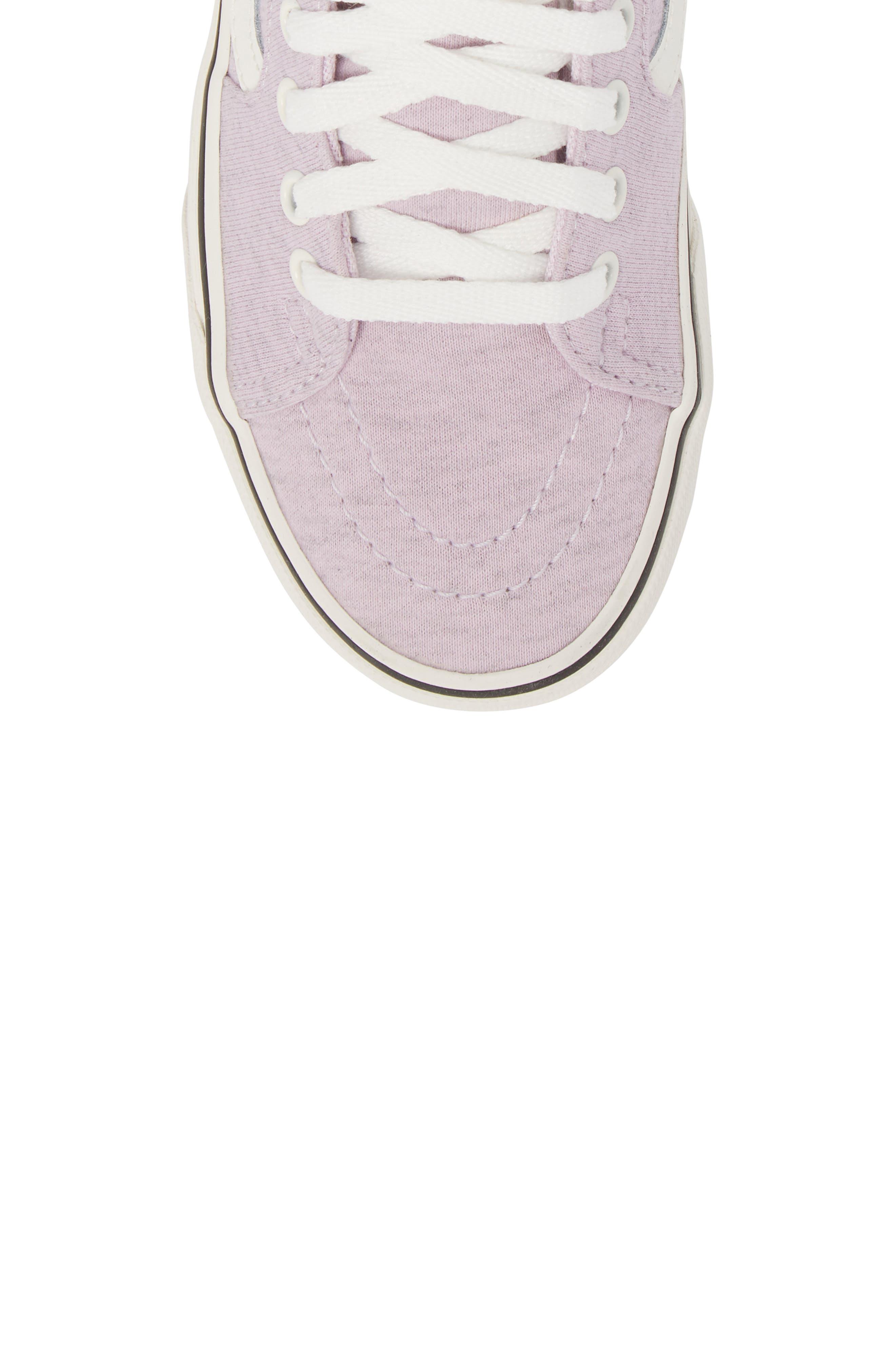 'Sk8-Hi' Sneaker,                             Alternate thumbnail 3, color,                             Lavender Fog/ Snow White