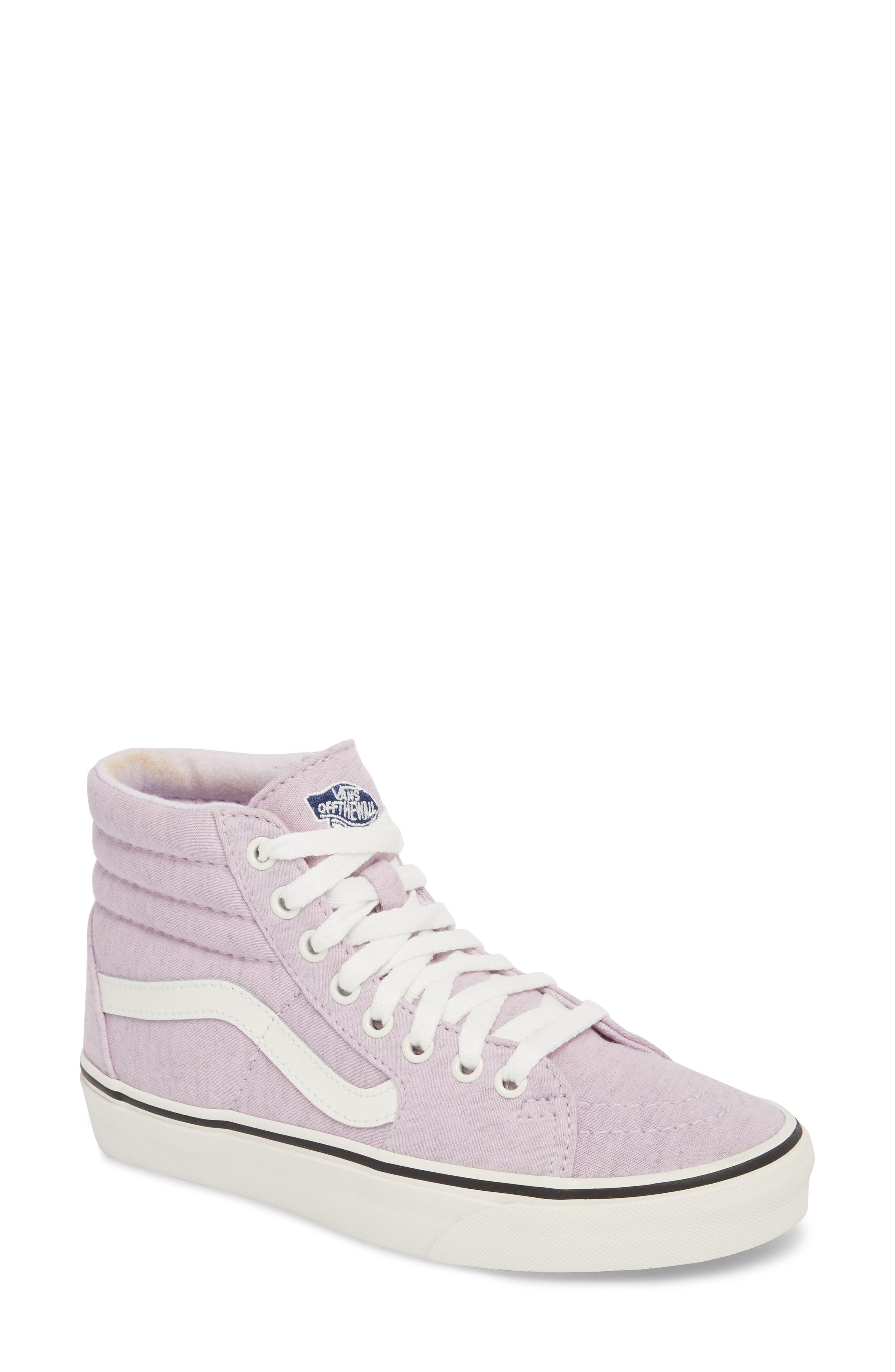'Sk8-Hi' Sneaker,                             Main thumbnail 1, color,                             Lavender Fog/ Snow White