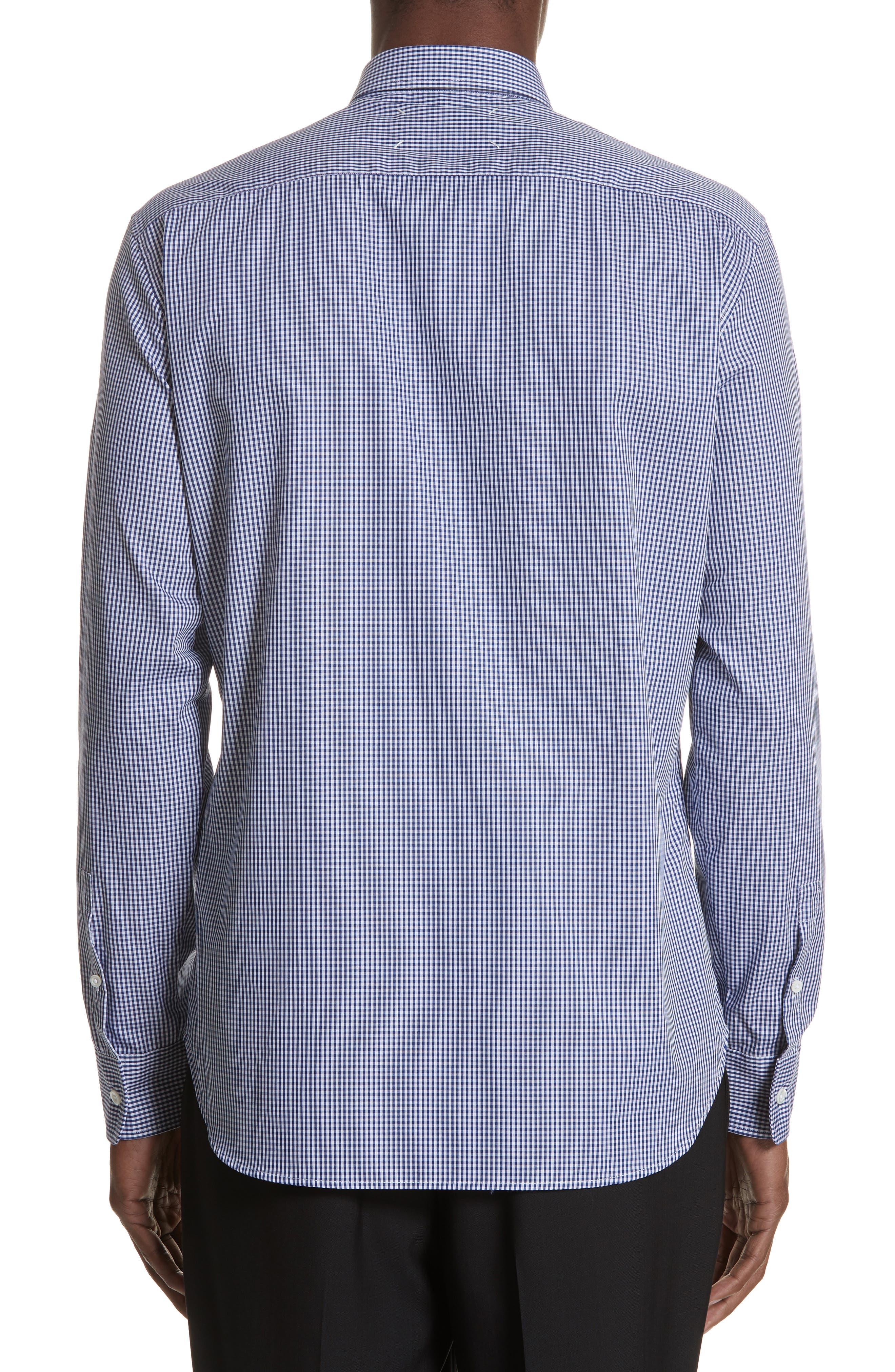 Gingham Woven Sport Shirt,                             Alternate thumbnail 4, color,                             Blue
