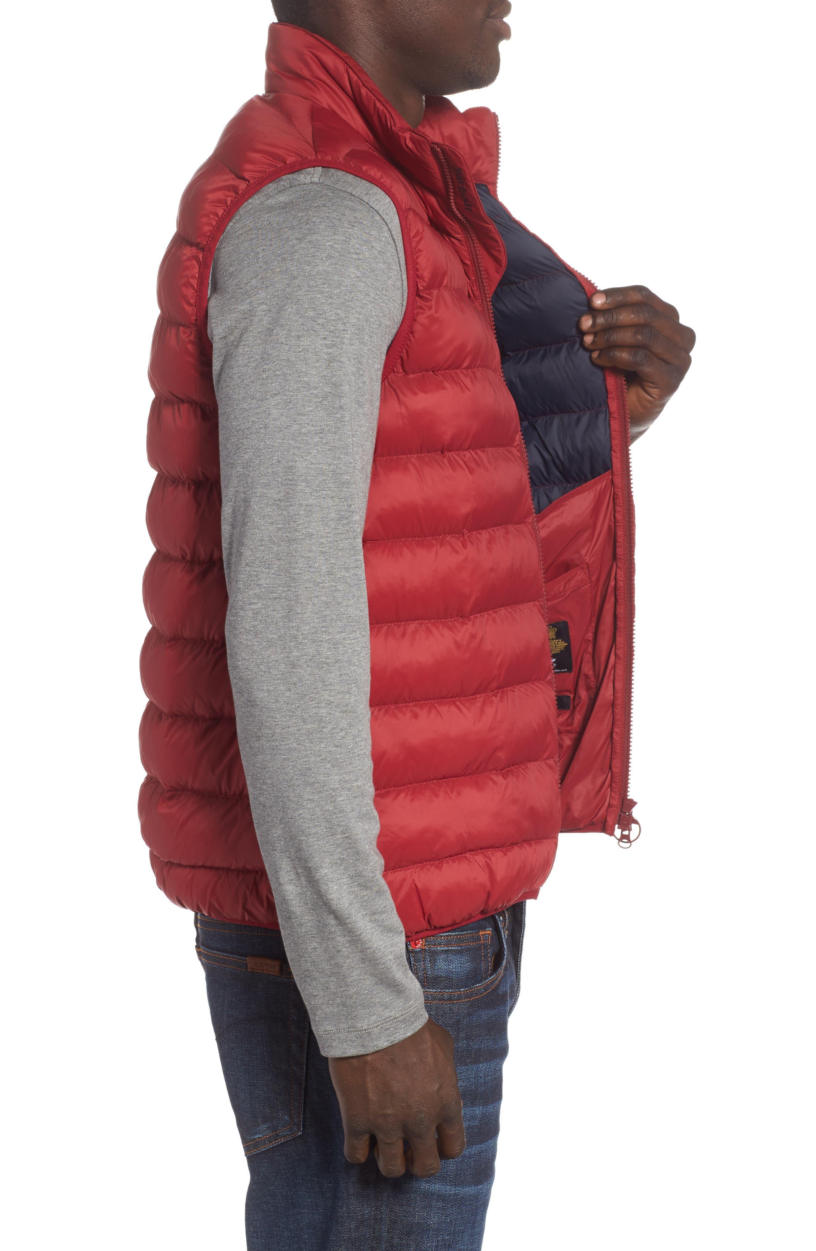 Askham Quilted Vest,                             Alternate thumbnail 3, color,                             Biking Red