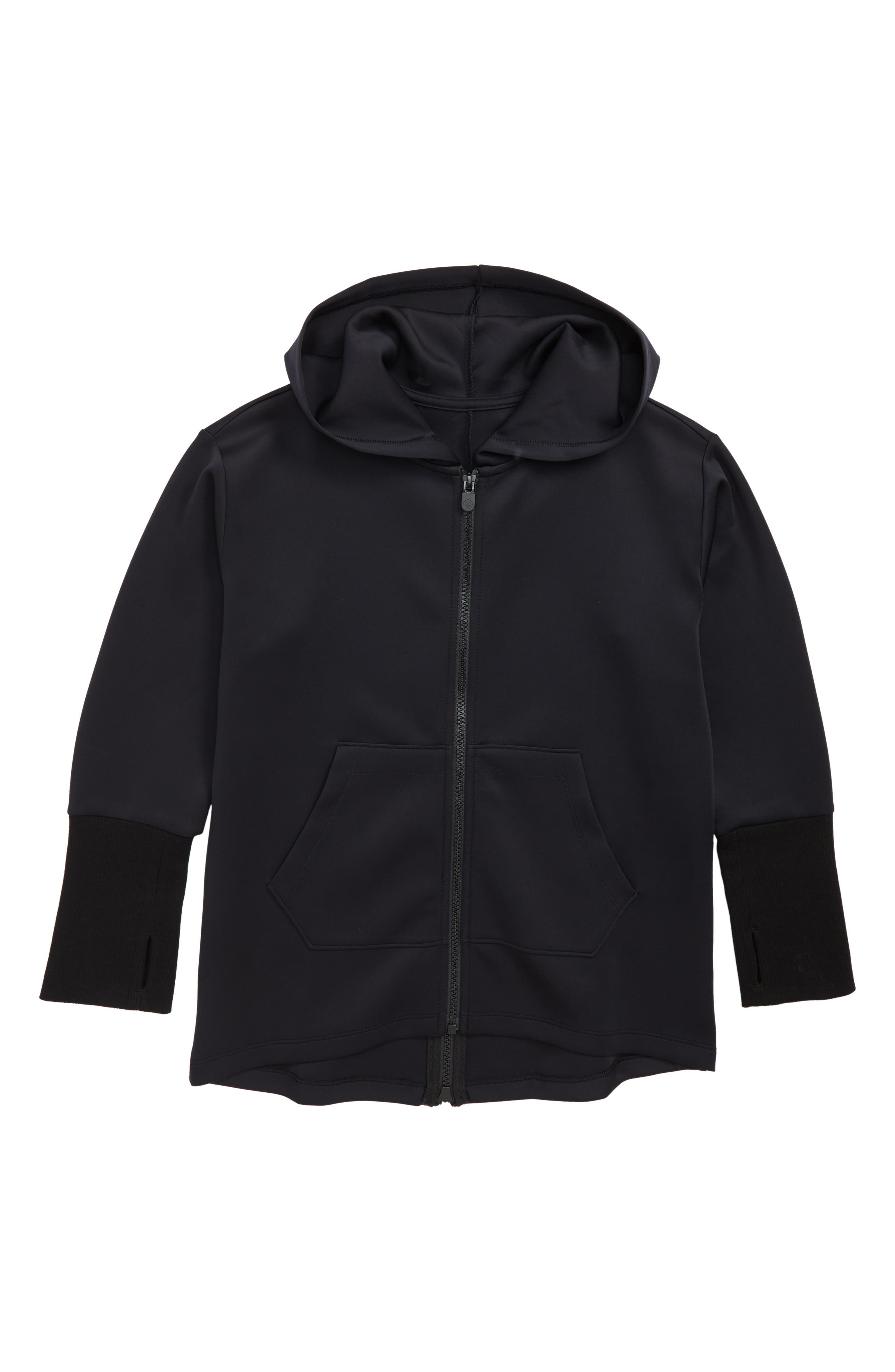 Hooded Zip Jacket,                         Main,                         color, Black