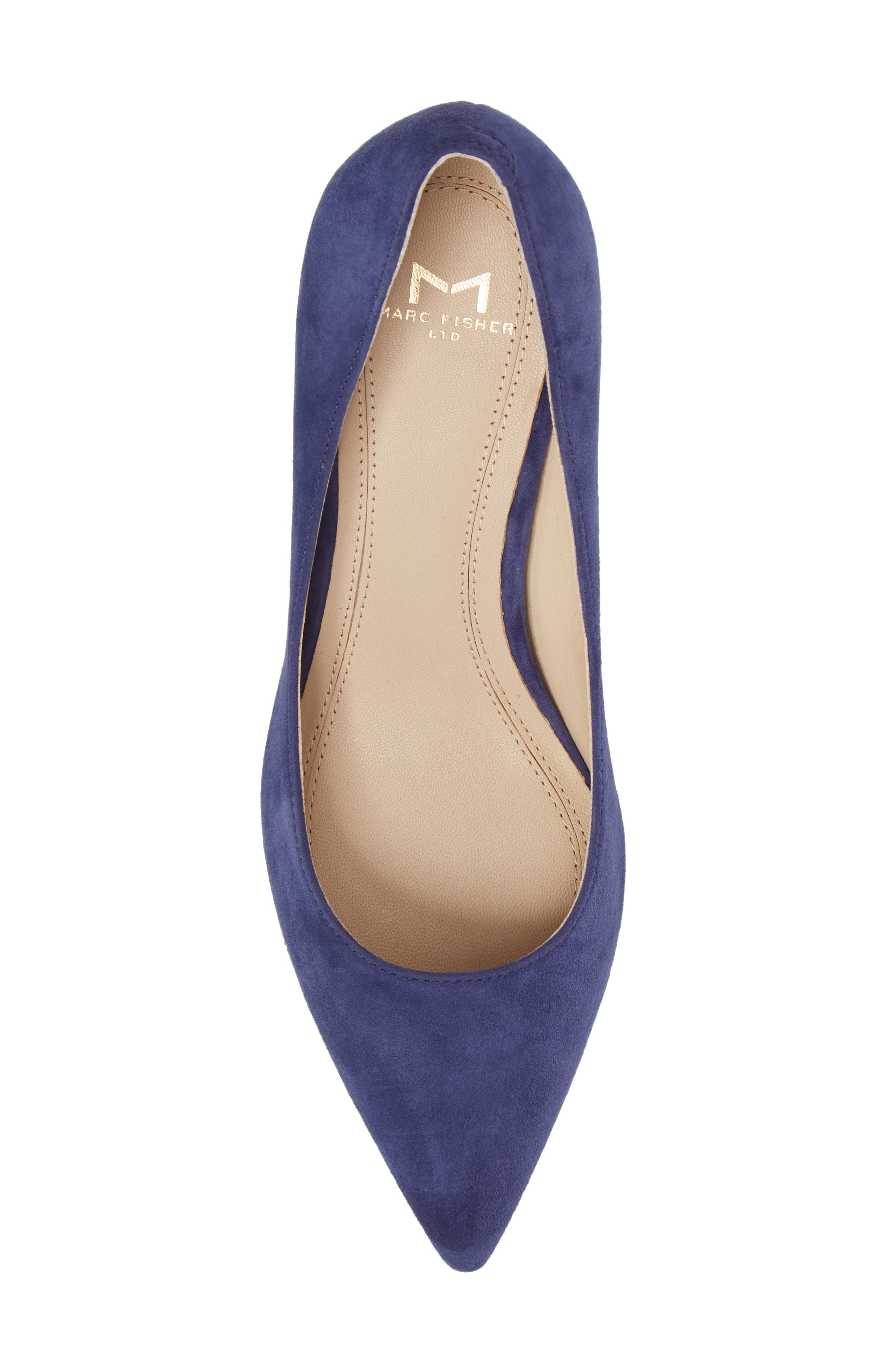 'Zala' Pump,                             Alternate thumbnail 5, color,                             Blue Suede