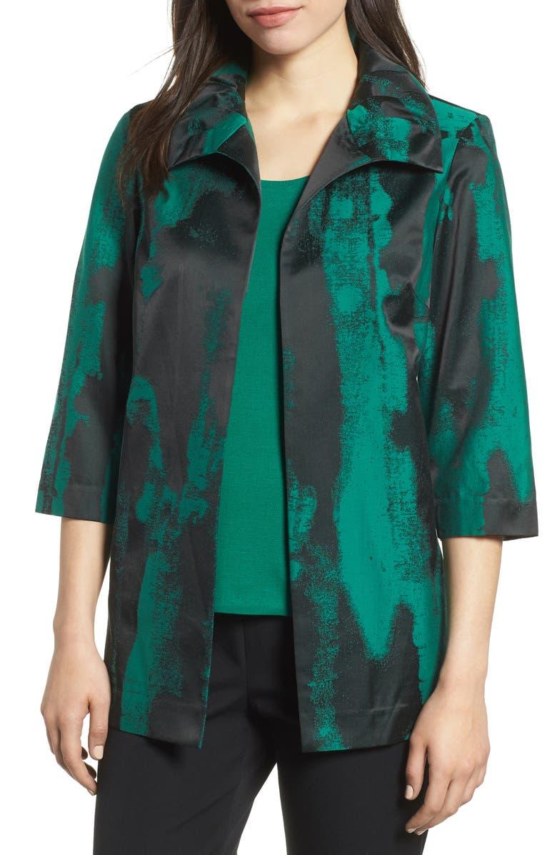 Print Cotton Blend Jacket