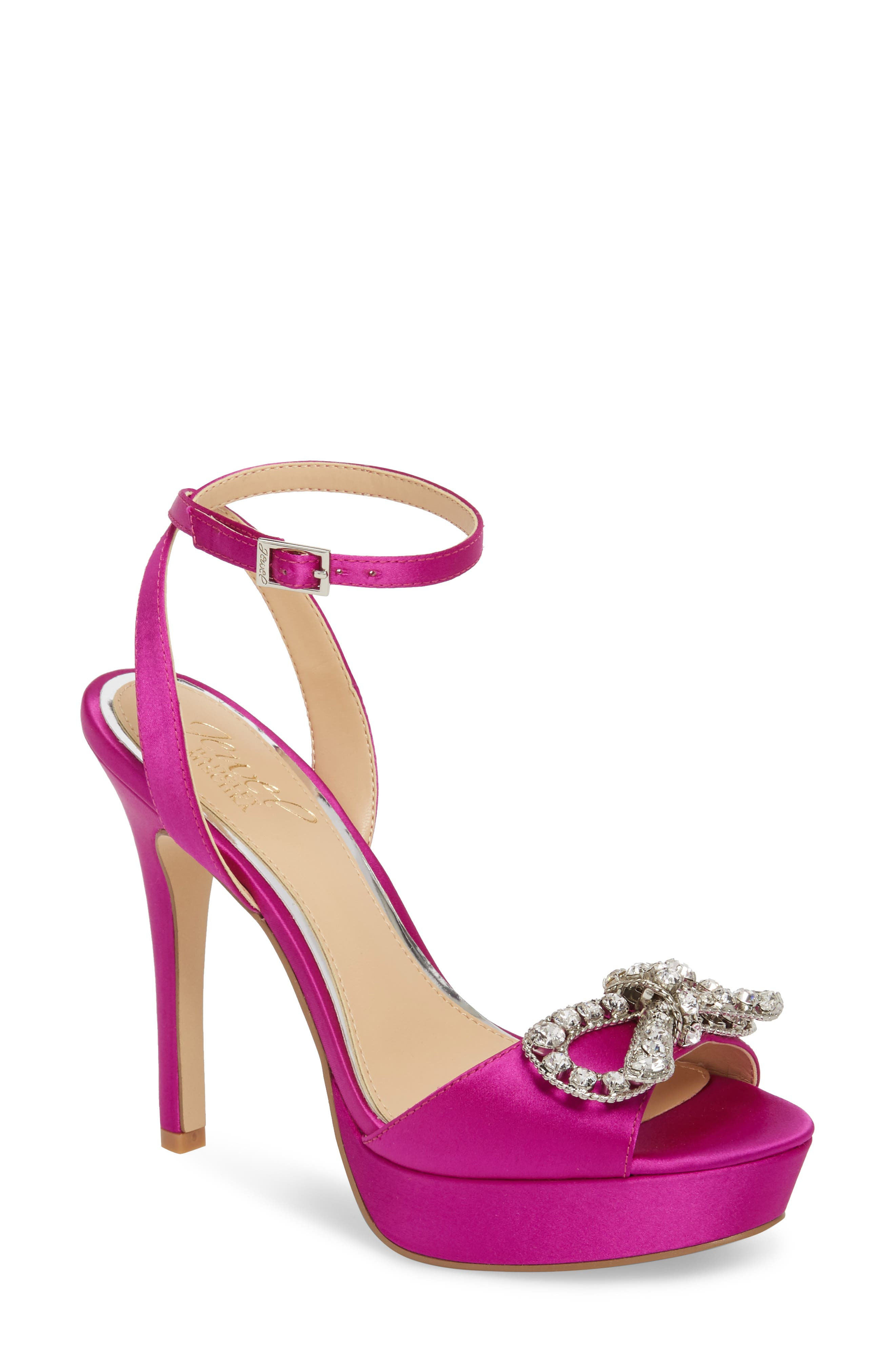 Badgley Mischka Women's Mildred Crystal Bow Platform Sandal kz0XsQA
