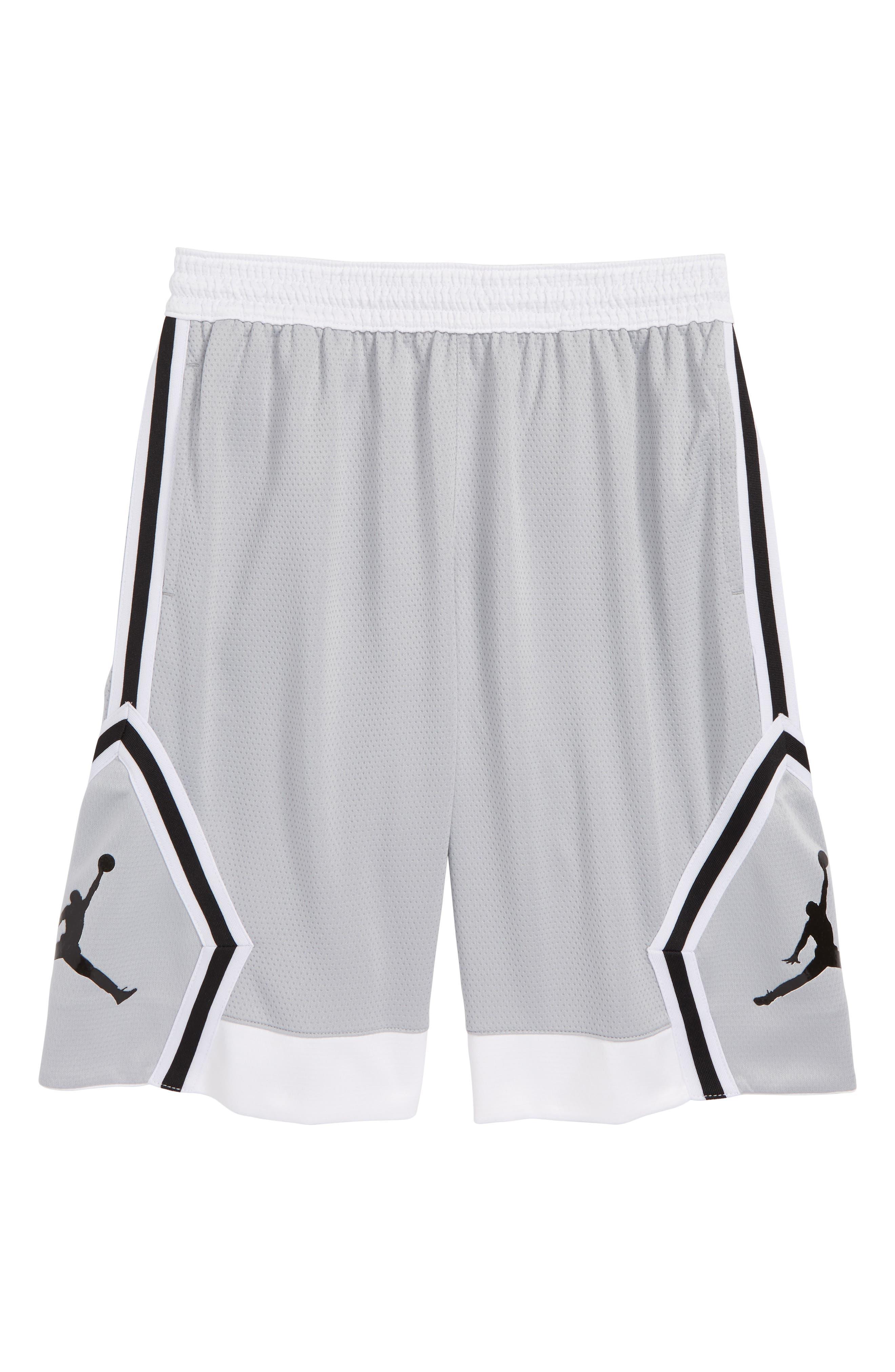Jordan Rise Diamond Dri-FIT Basketball Shorts,                             Main thumbnail 1, color,                             Wolf Grey