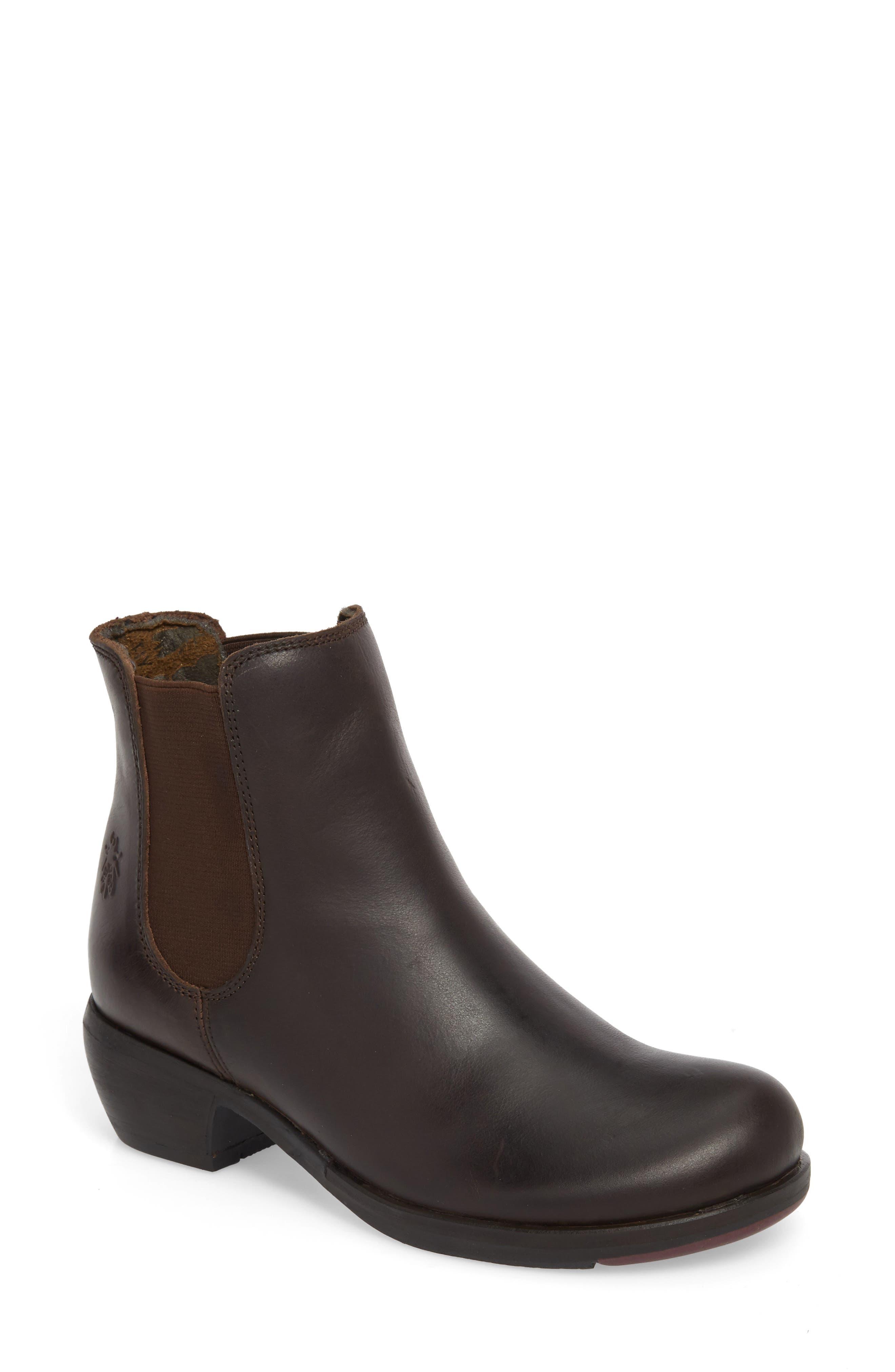 Make Chelsea Boot,                             Main thumbnail 1, color,                             Dark Brown/ Brown